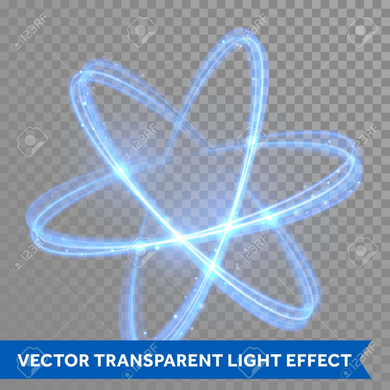 Vector blue neon crossed circles light train effect glowing atom imagens vector blue neon crossed circles light train effect glowing atom structure with magic fire ring trace glitter sparkle swirl trail effect on ccuart Gallery