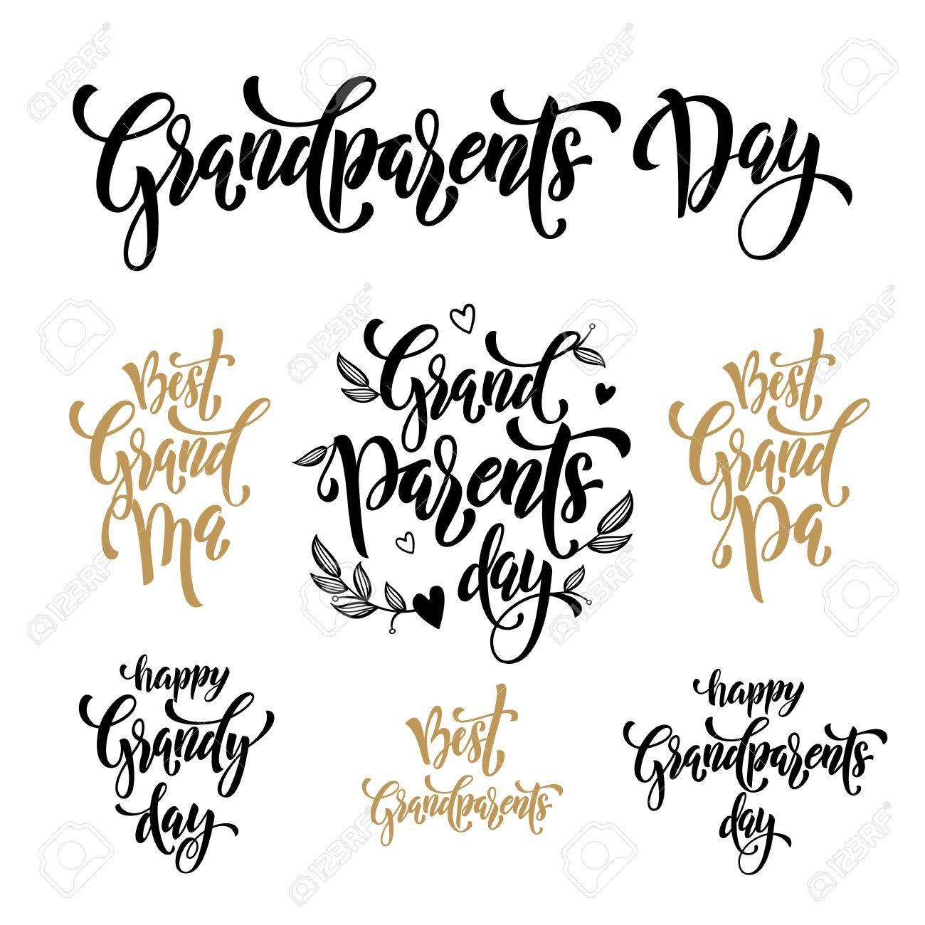 Letras Feliz Día De Los Abuelos Artisitc Para El Abuelo, Tarjeta De ...