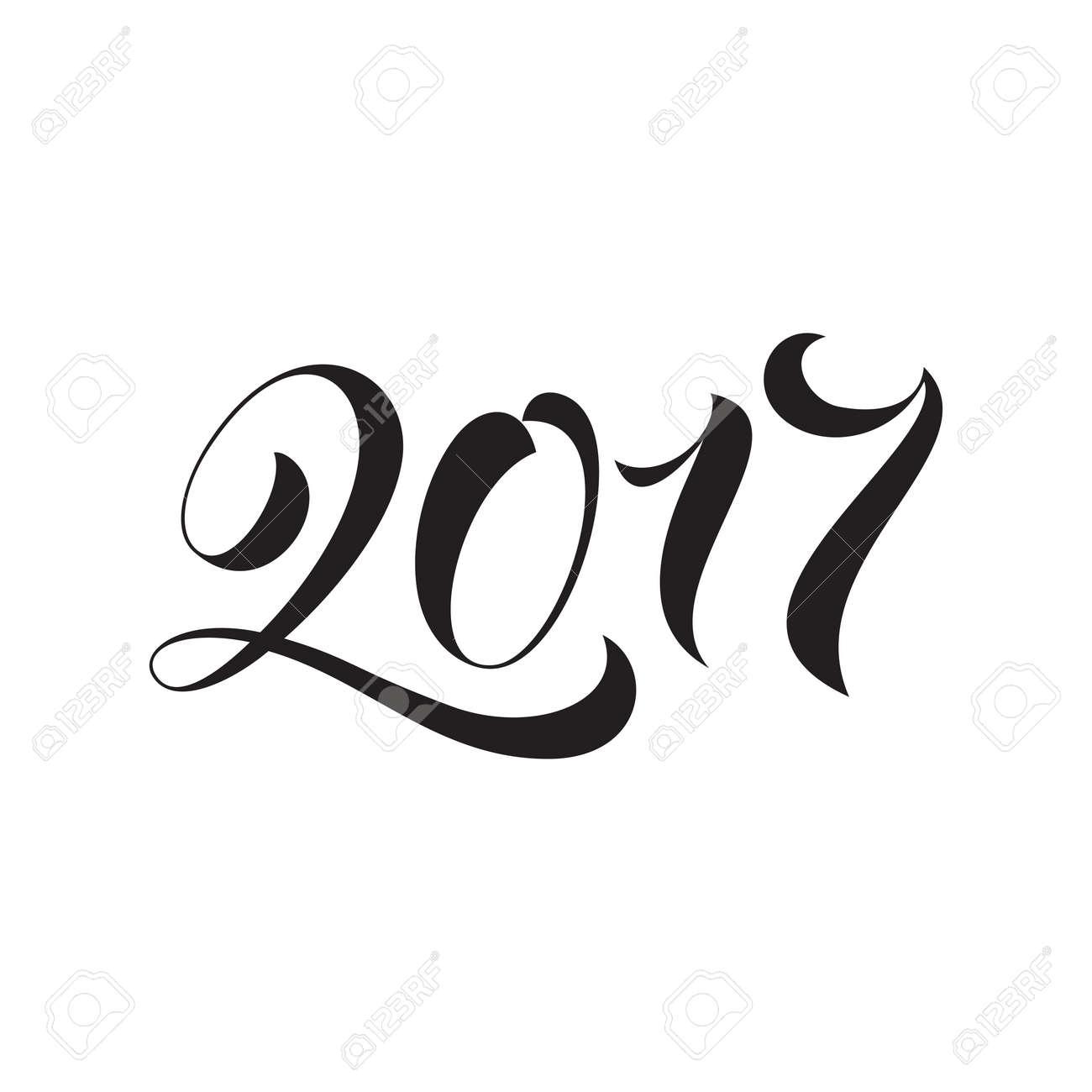 Guten Rutsch Ins Neue Jahr 2017-Schriftzug Feiertagsgrußkarte ...