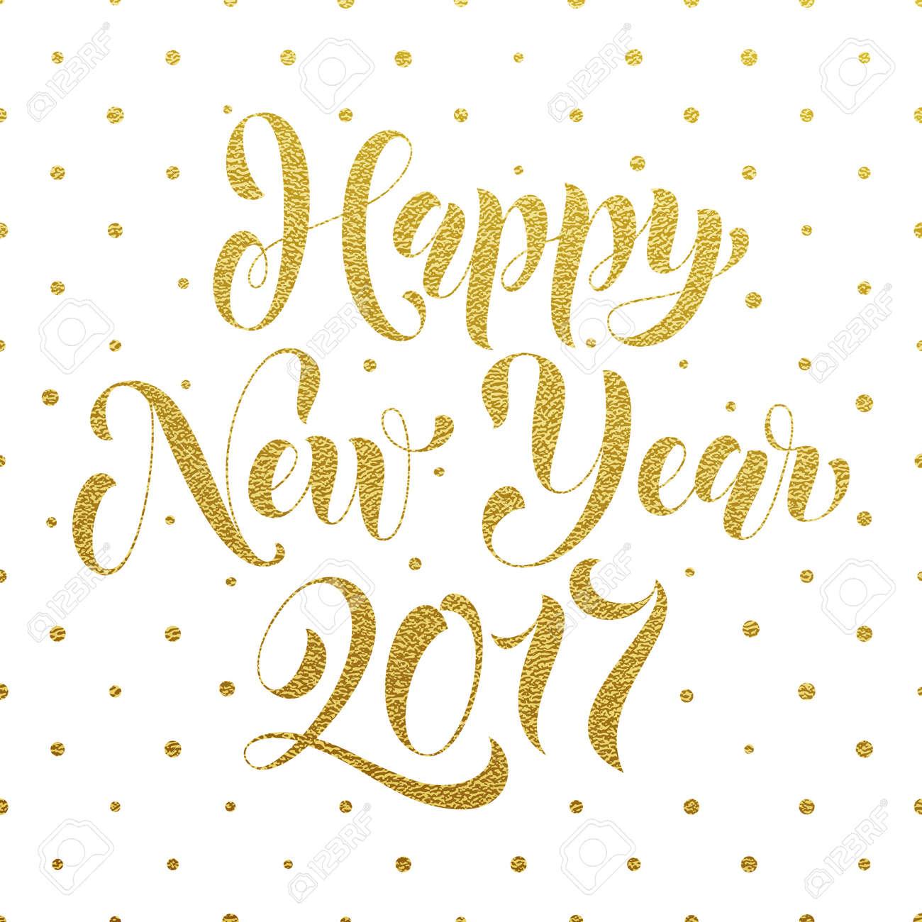 Guten Rutsch Ins Neue Jahr 2017 Gold-Glitter-Schriftzug Für ...