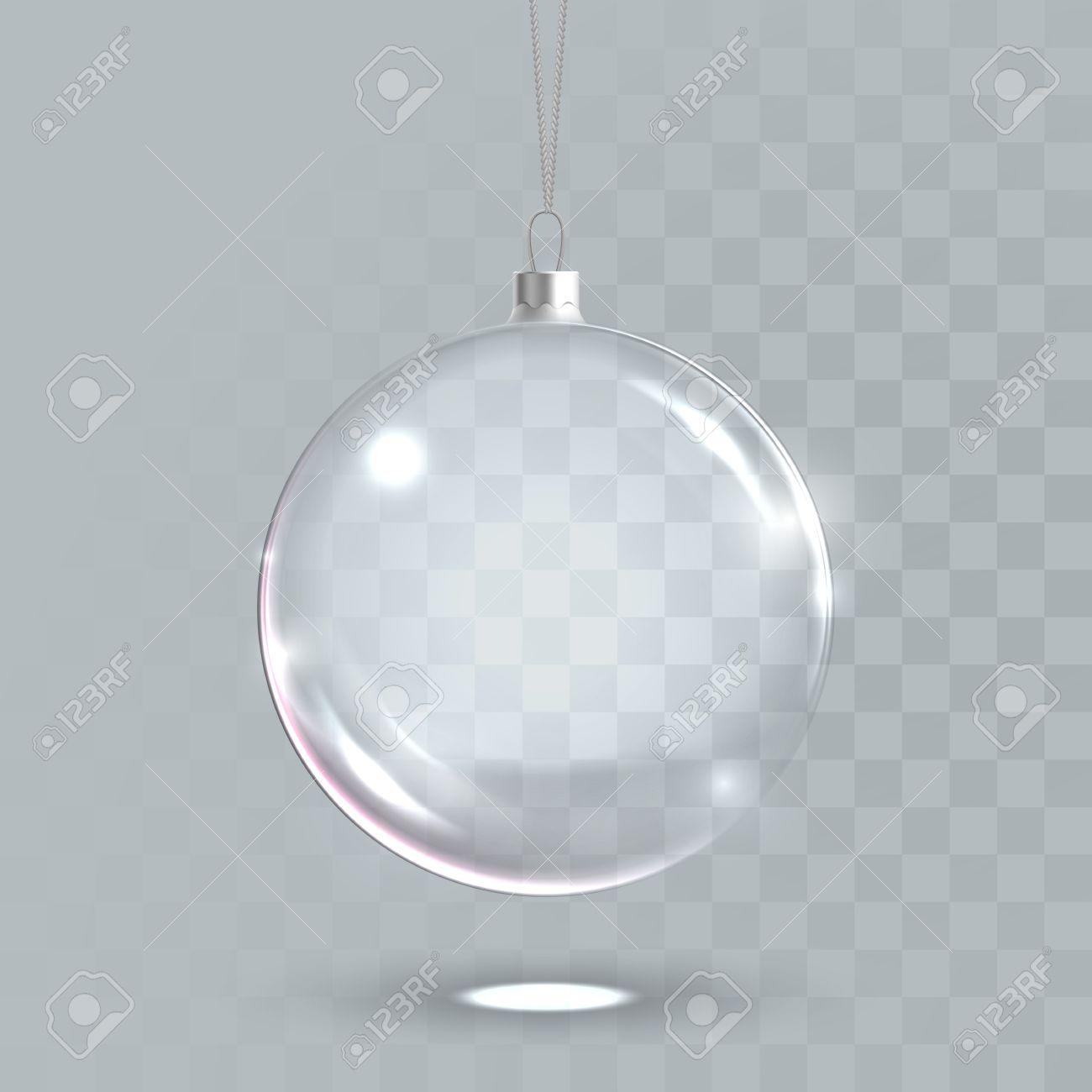 Bola De Navidad Transparente Vector 3d Bola Aislada Esfera De - Bolas-de-navidad-transparentes