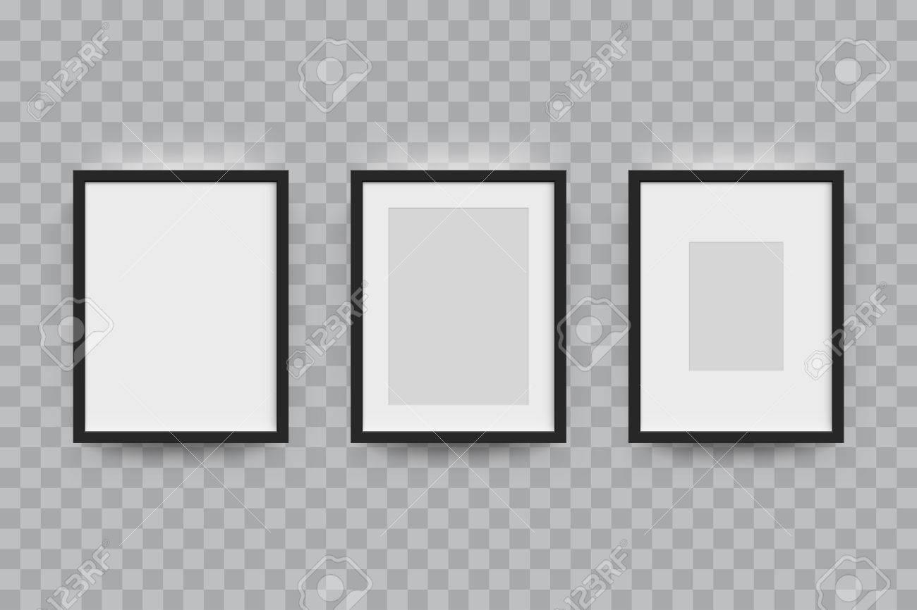 Bilderrahmen Für Fotos Eingestellt. Vector Realitätsnahe Papier Oder ...