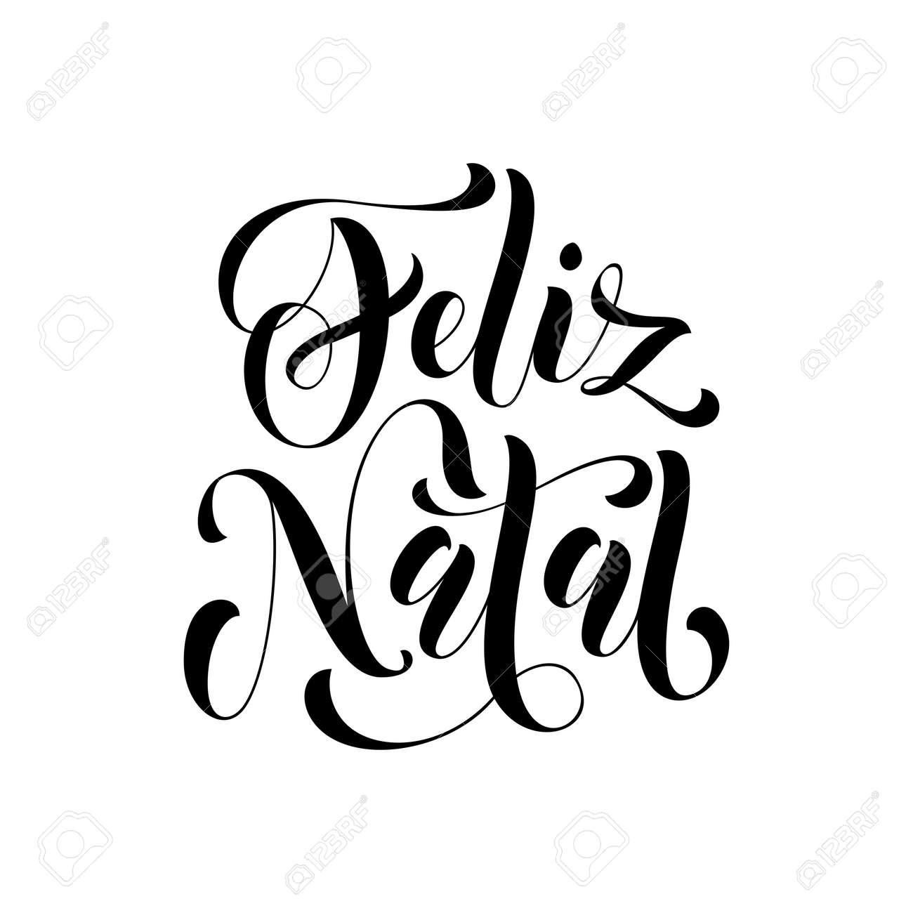 Feliz Natal Für Portugiesische Gruß, Brasilianisches Ano Novo, Frohe ...