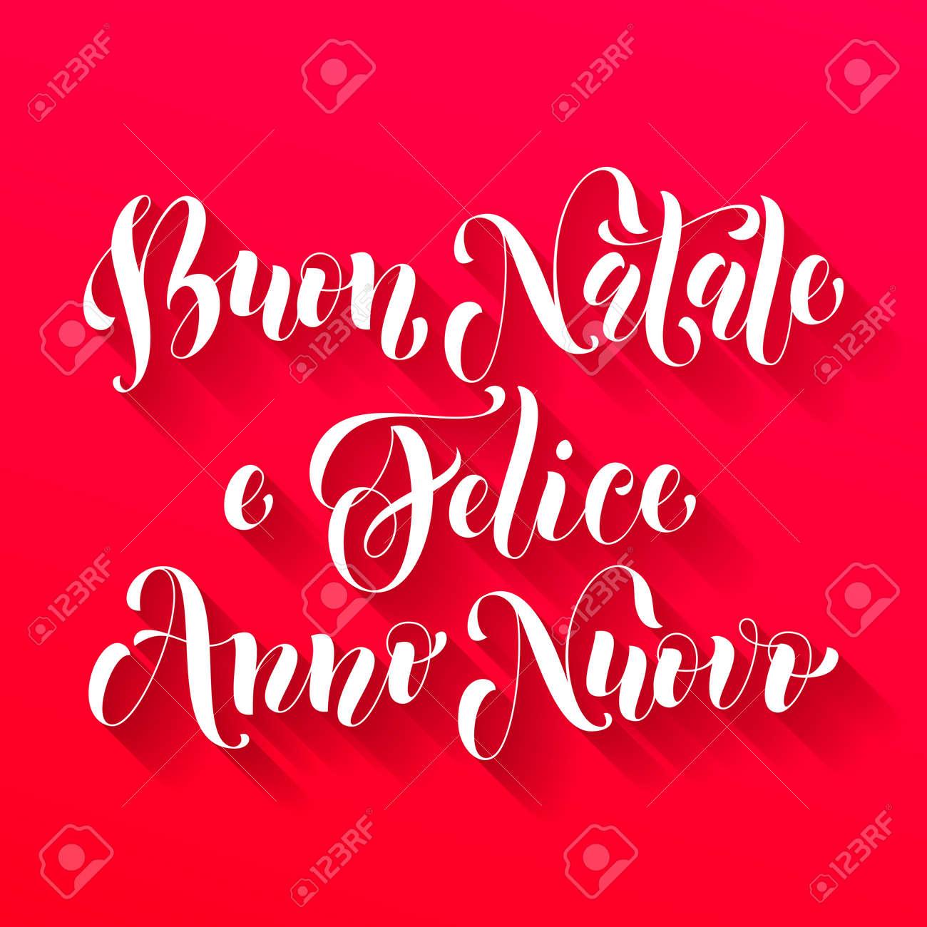 Carte Bonne Fete En Italien.Buon Natale Felice Anno Nuovo Salutation Italien Pour Joyeux Noel