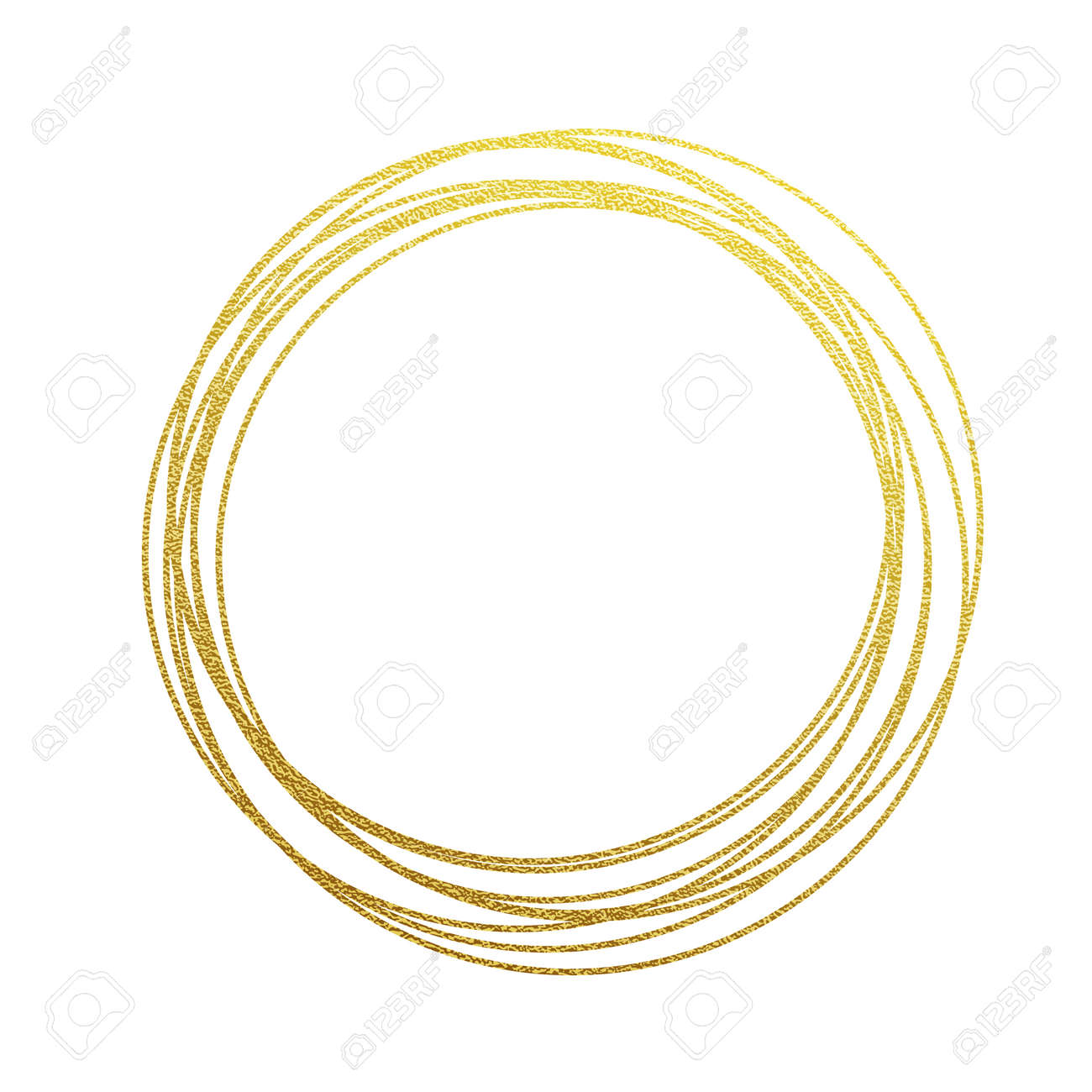 Design Enement Rings Online Free | Golden Circles And Rings Decoration Design Element Of Gold Foil