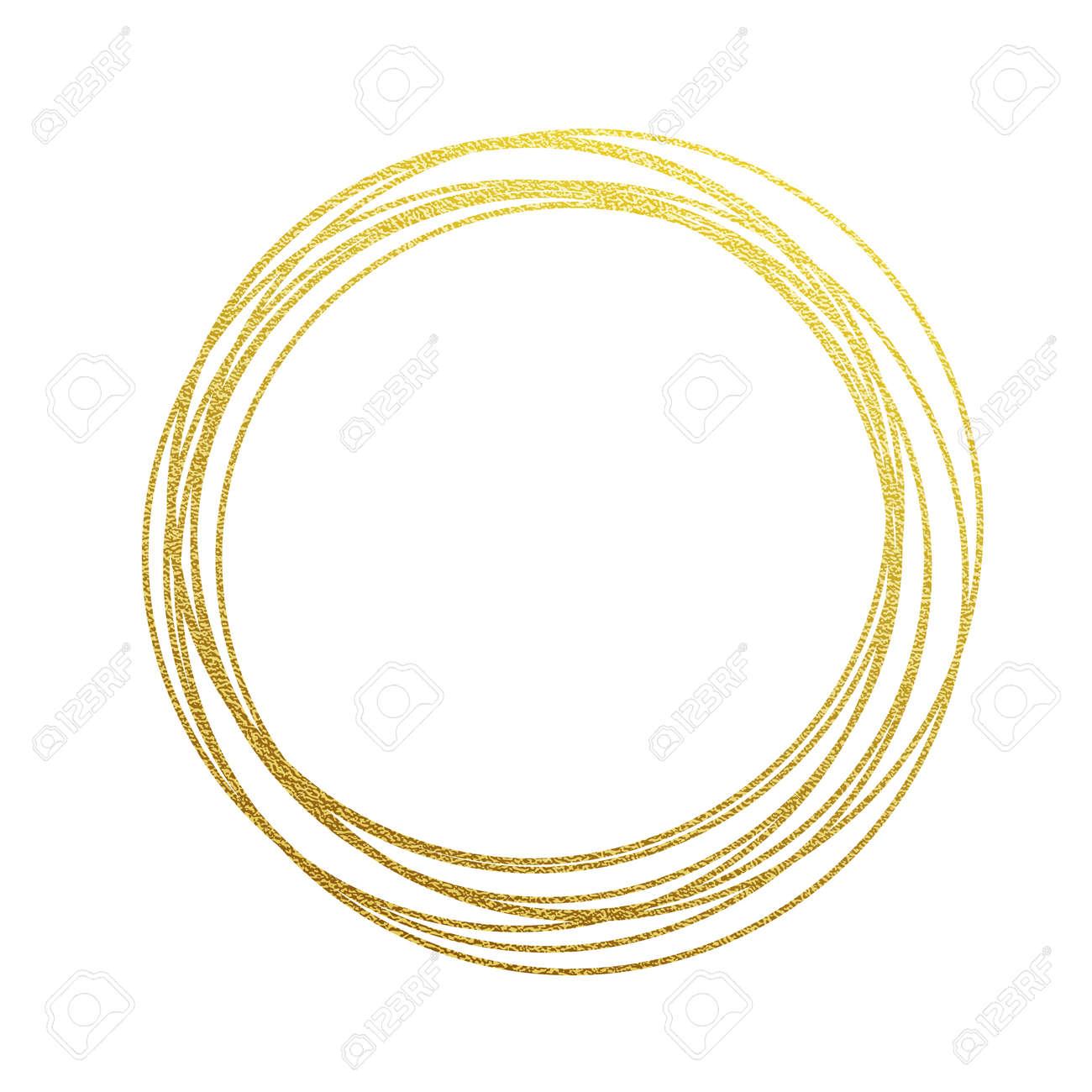 92ce90f0708b Los Círculos De Oro Y Anillos. Decoración Elemento De Diseño De La Textura  De La Hoja De Oro Dorado. Fondo Festivo De Año Nuevo Y Las Tarjetas De  Navidad ...