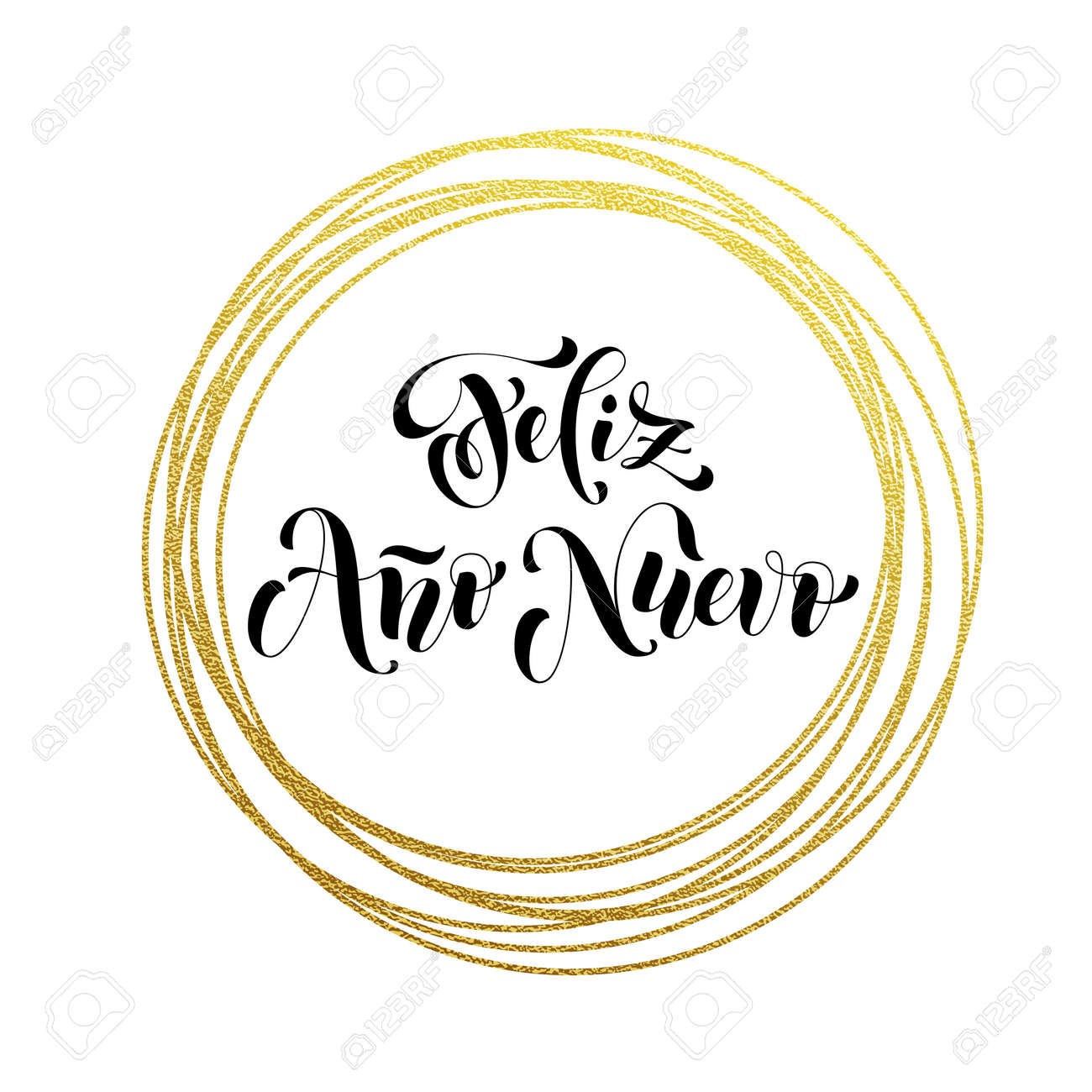 Feliz ano nuevo spanish happy new year luxury golden greeting feliz ano nuevo spanish happy new year luxury golden greeting card of golden glitter decoration m4hsunfo Choice Image