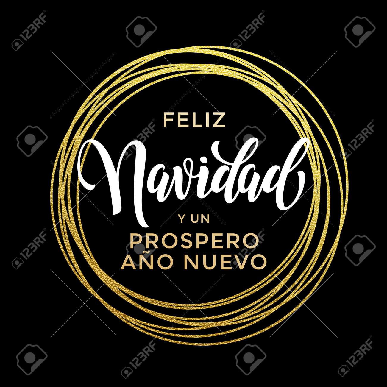prospero ano nuevo spanish happy new year feliz navidad merry christmas luxury golden greeting card