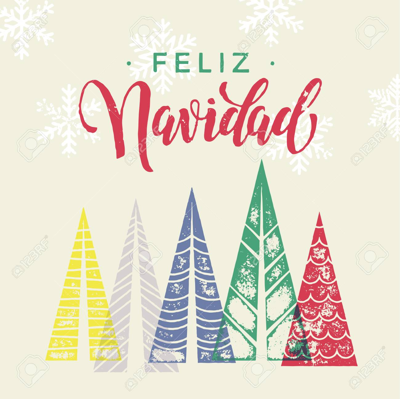 Winter Forest Background With Christmas Trees For Italian Greeting ...