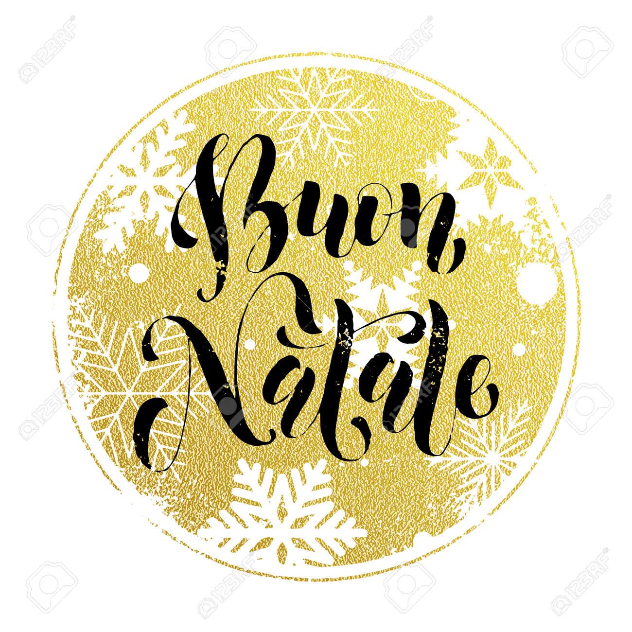 Weihnachten In Italien weihnachten in italien buon natale golden runde karte grußkarte