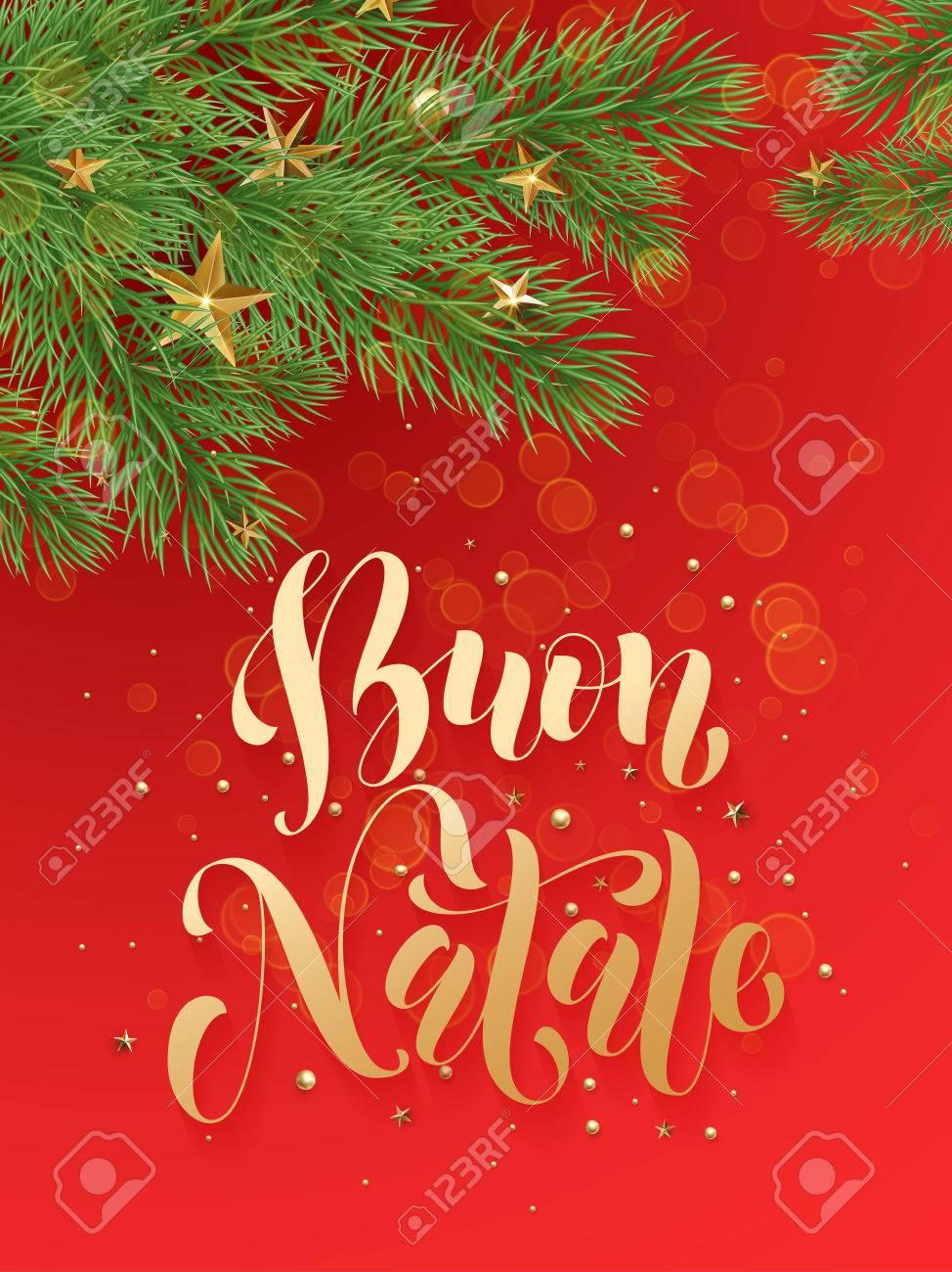Buon Natale Ornament.Buon Natale Italian Merry Christmas Background Decoration Ornaments