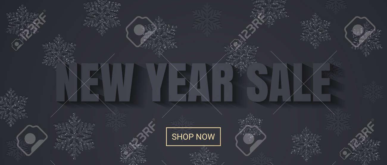 Verkaufsfahnenhintergrund Für Einkaufsverkauf Des Neuen Jahres ...