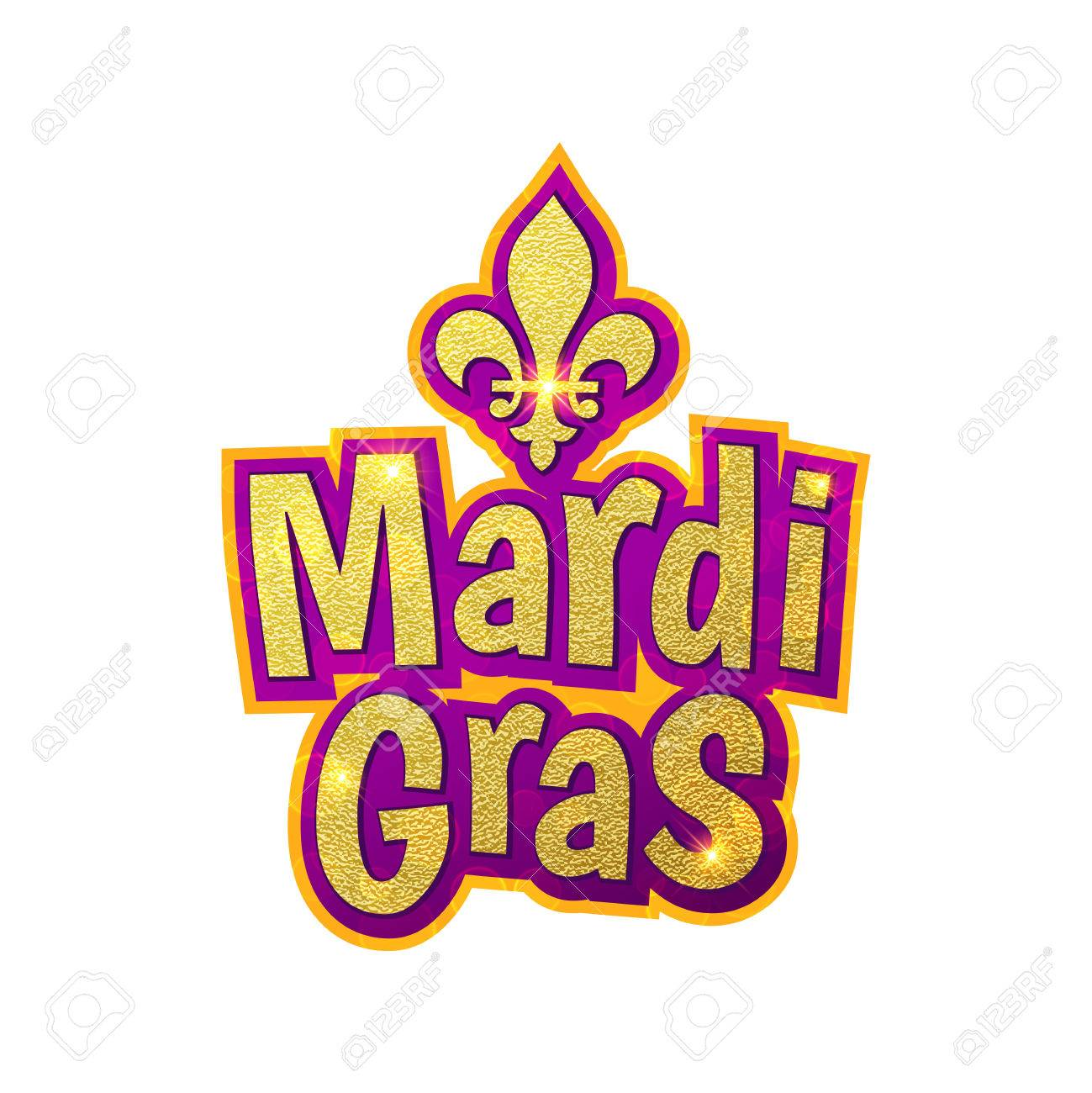 Mardi gras gold glitter text with sparkles fleur de lis lily mardi gras gold glitter text with sparkles fleur de lis lily symbol for buycottarizona Images
