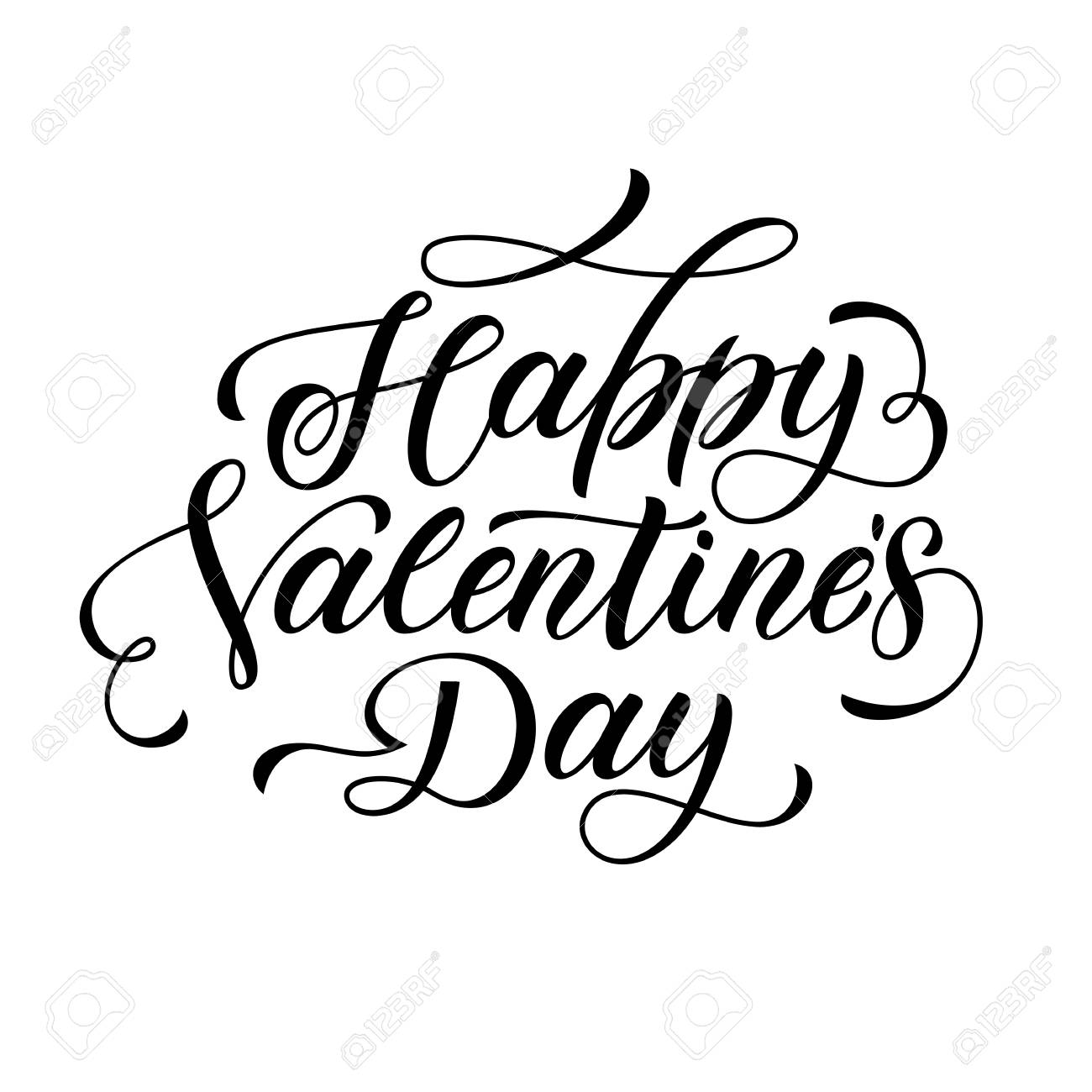 Valentine Day Text Calligraphy Vector Greeting Card Lettering Rh 123rf Com Corner Designs