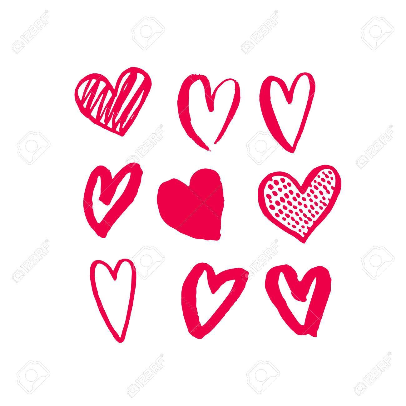 Corazones De San Valentín Modelo Rojo Del Corazón El Día De San