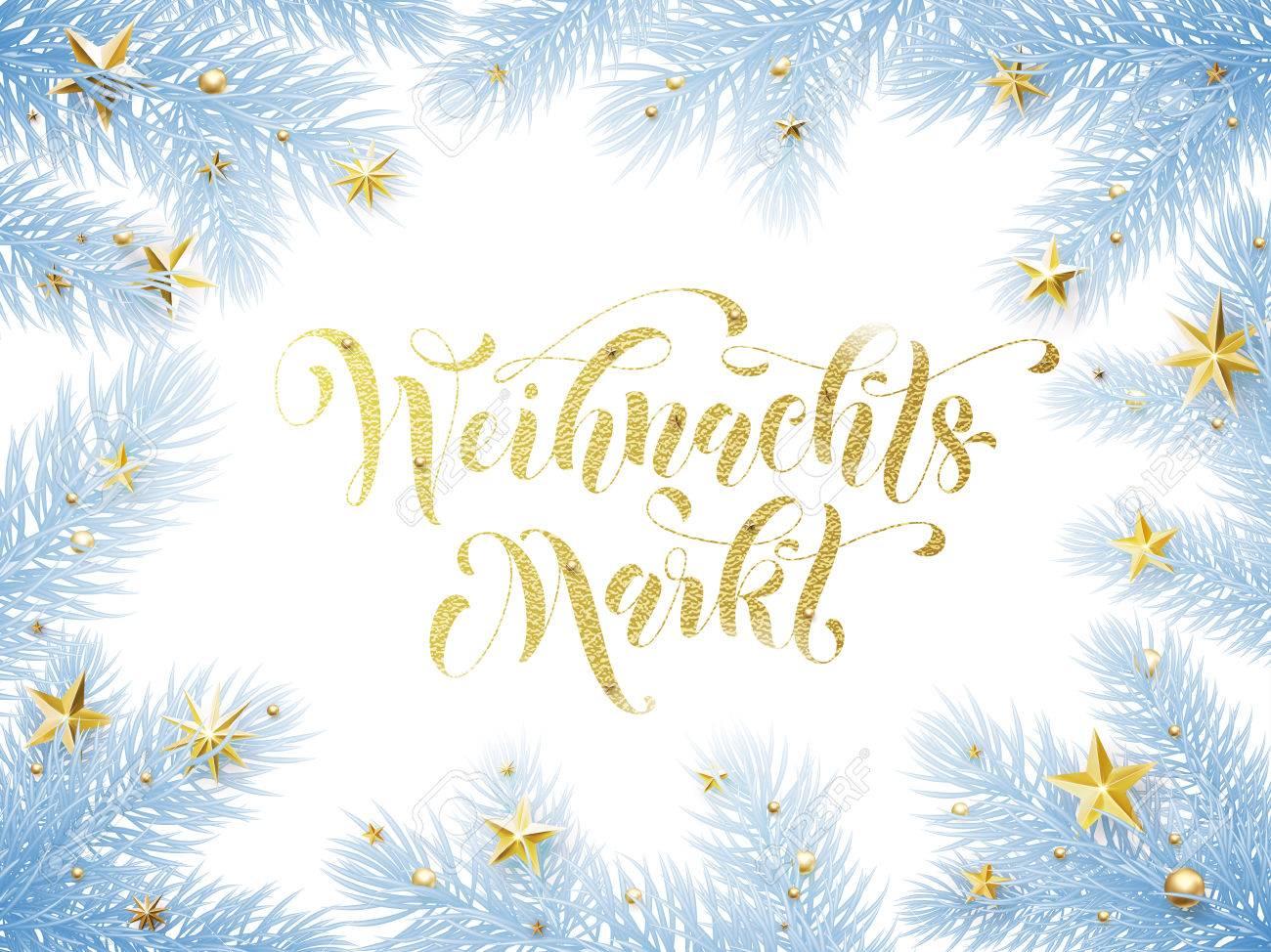 Christmas Sale market German text Weihnachtsmarkt banner  Weihnachten
