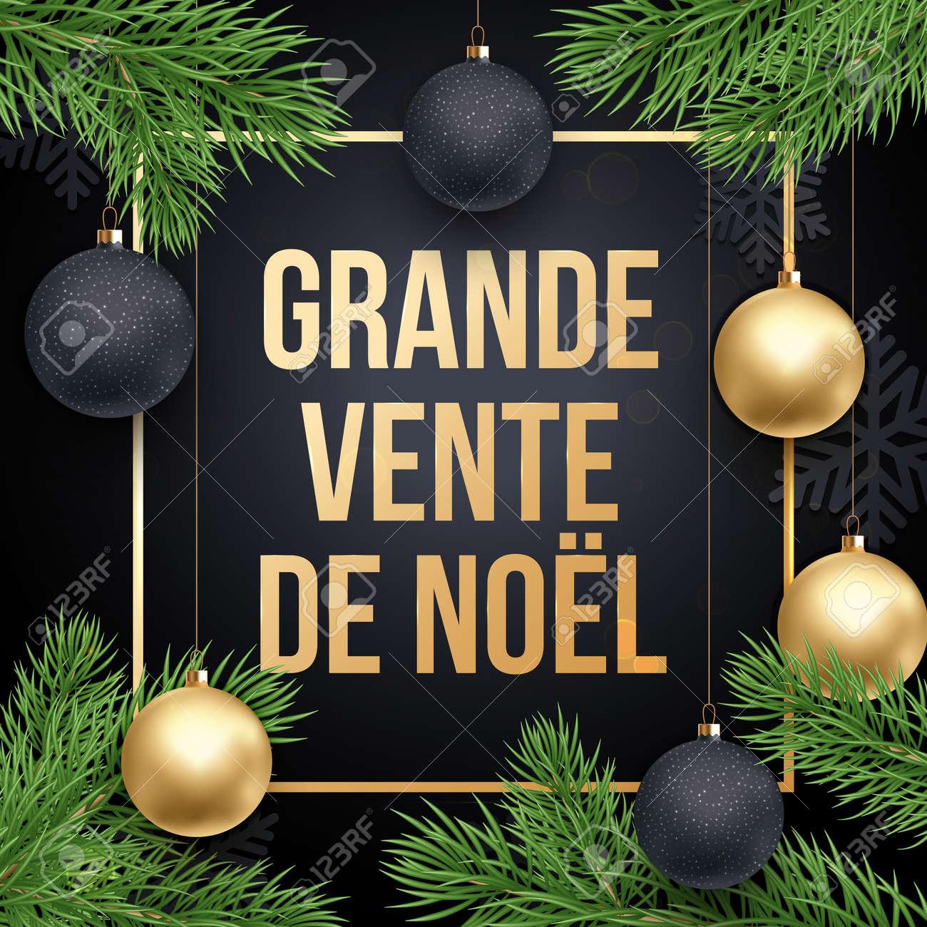 Cartel De Venta De Navidad Francés Texto Grande Vente De Noel ...
