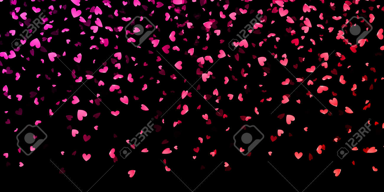 Fashion week Black and pink hearts background photo for girls