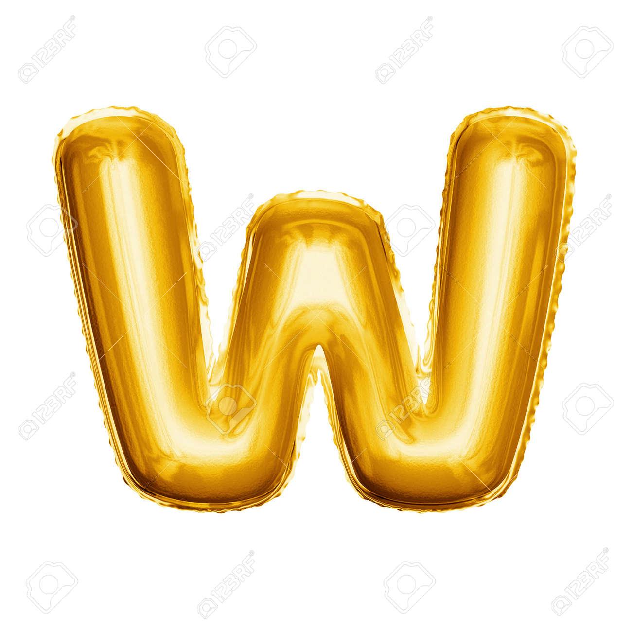 Abc Verjaardag.Ballonletter W Realistische 3d Geisoleerde Gouden Helium Ballon Abc Alfabet Gouden Lettertype Tekst Decoratie Element Voor Verjaardag Of Bruiloft