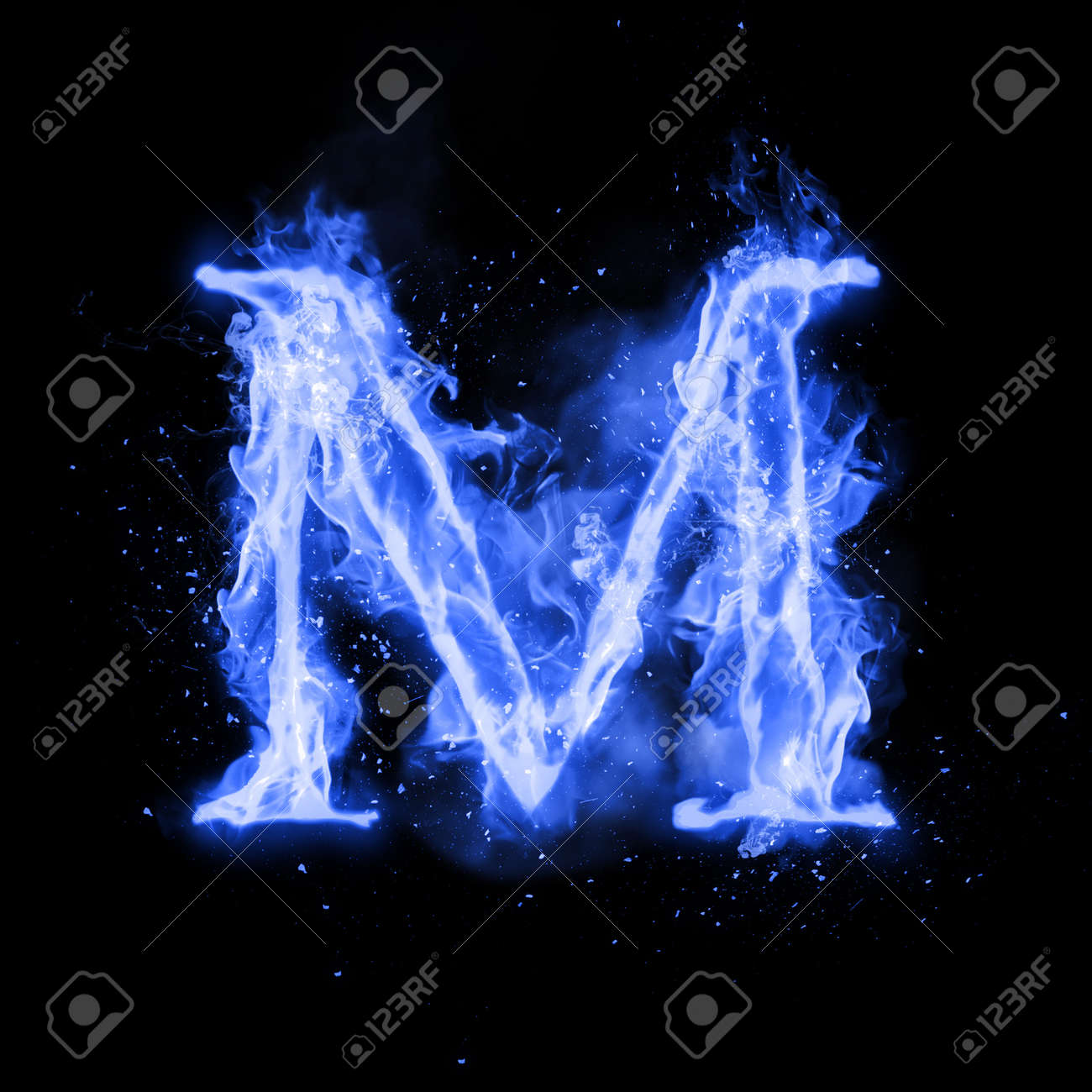 Fire letter m of burning blue flame flaming burn font or bonfire fire letter m of burning blue flame flaming burn font or bonfire alphabet text with thecheapjerseys Image collections