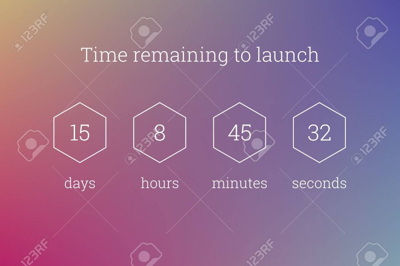 Countdown Web Site Vector Flat Template Digital Clock Timer ...