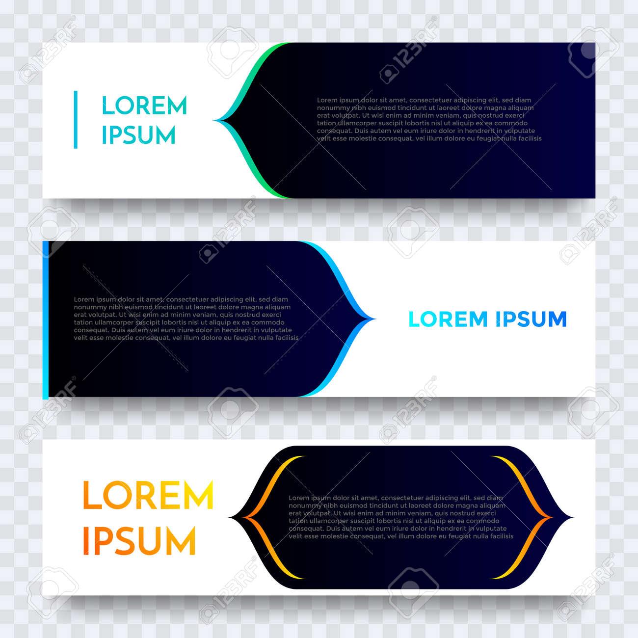 Vettoriale Web Design Banner Disegno Vettoriale Sfondo Moderno