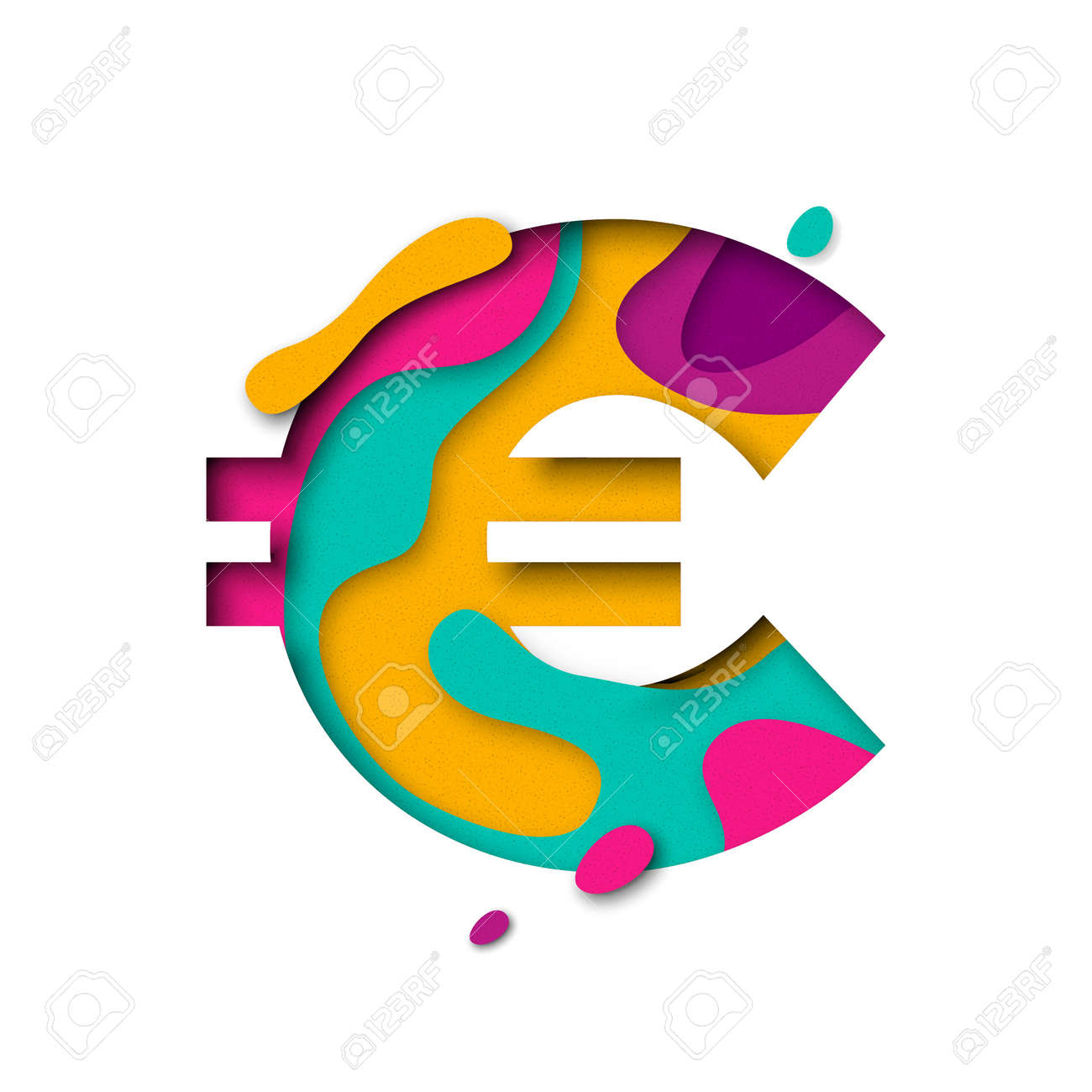 Euro symbol currency sign of paper cut origami elements alphabet euro symbol currency sign of paper cut origami elements alphabet letter with 3d multi biocorpaavc Images