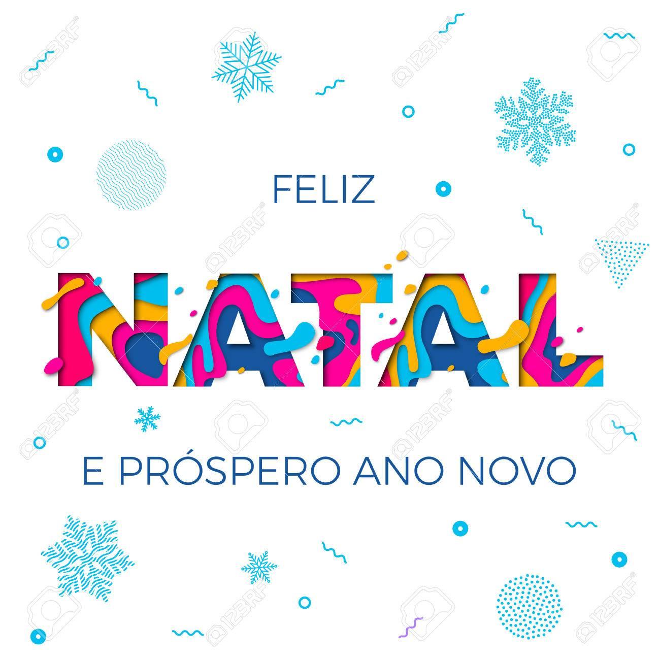 Feliz Natal Merry Christmas Portuguese Greeting Card, Ano Novo ...