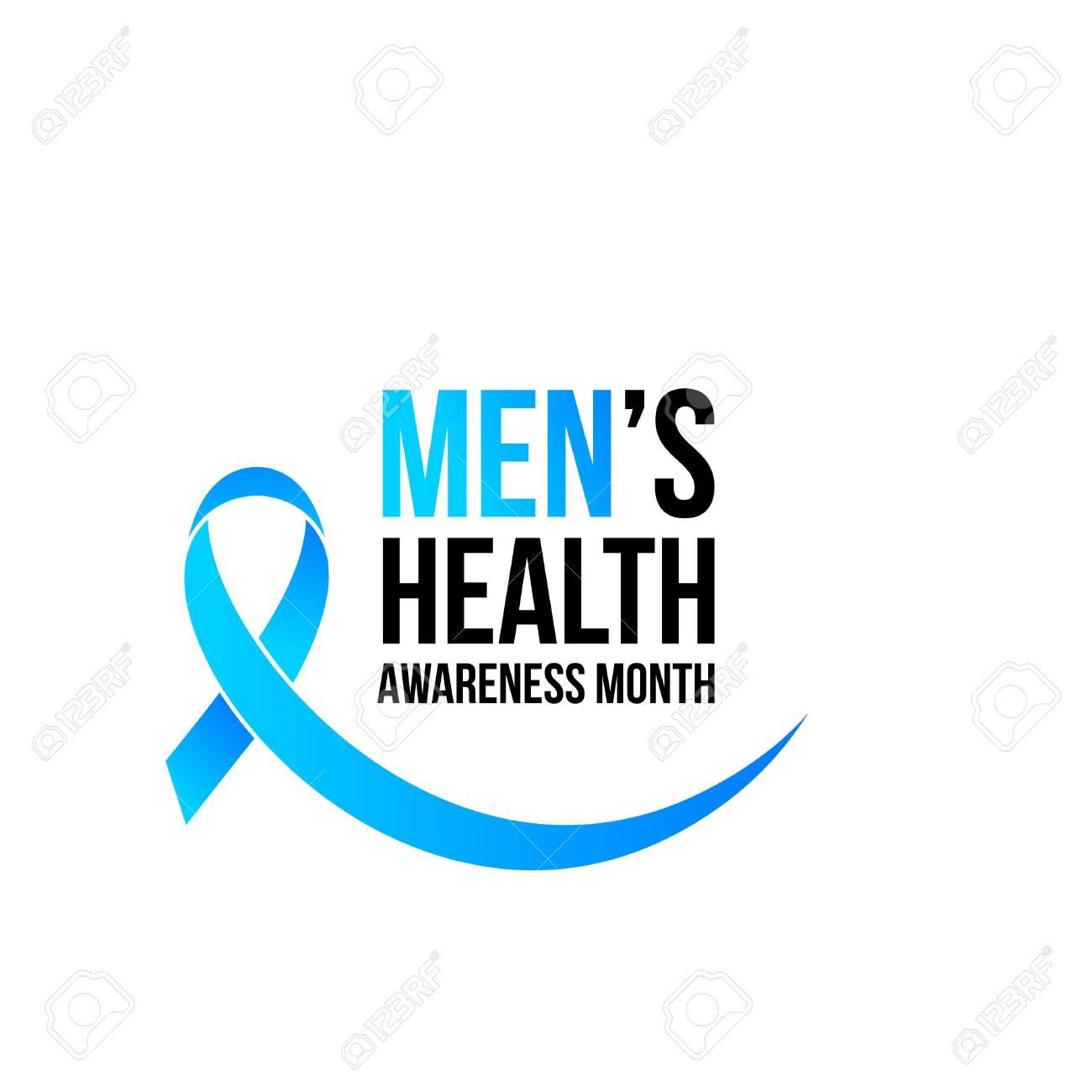 November men health awareness month poster or banner of blue ribbon. Vector no shave symbol for social solidarity event against prostate cancer campaign - 88394887