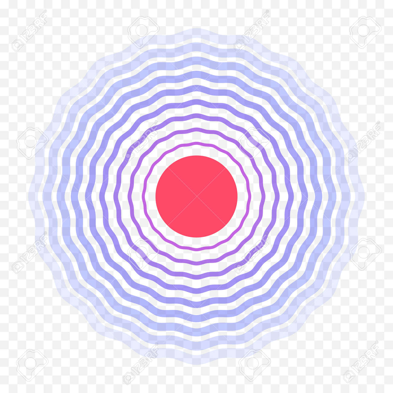 Pain circle red icon for medical painkiller drug medicine or of body or muscular joint pain and head ache analgetic remedy. Vector red circles target spot symbol for pill medication first aid design - 88856010
