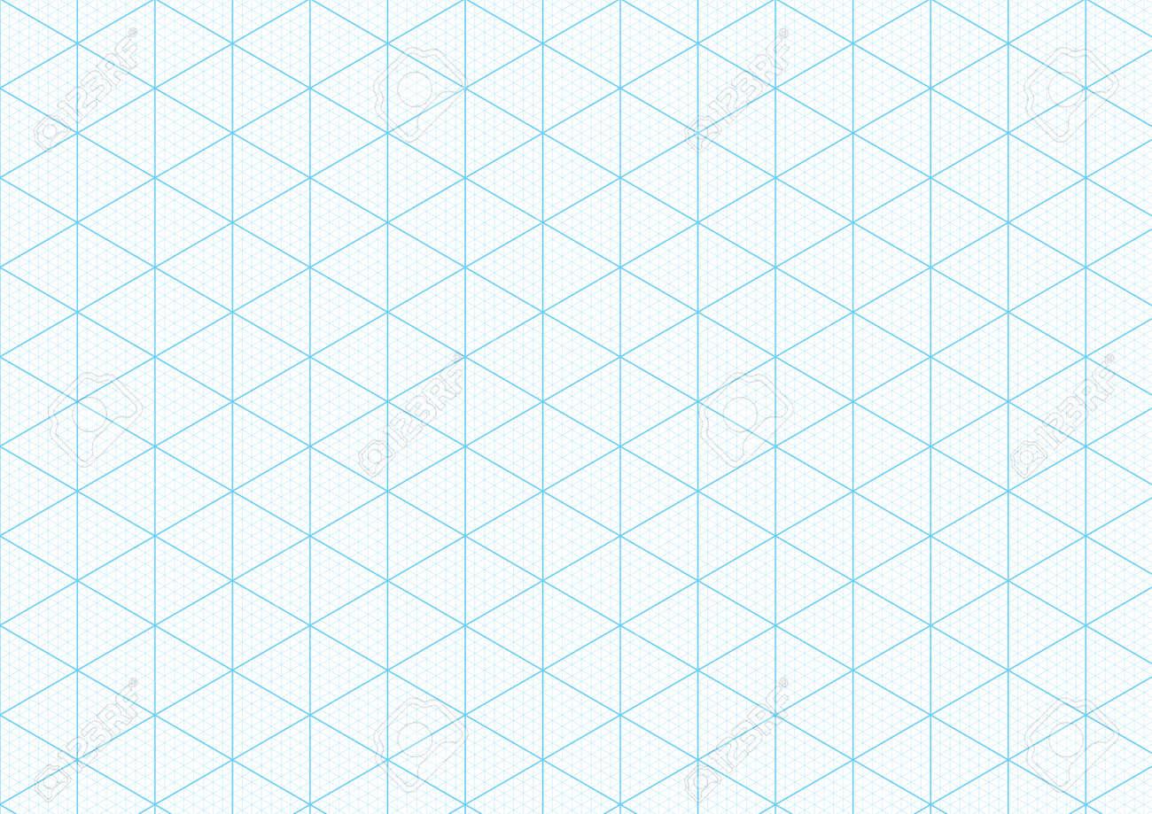 Fondo De Papel Gráfico Isométrico Con La Trama Triangular Y ...