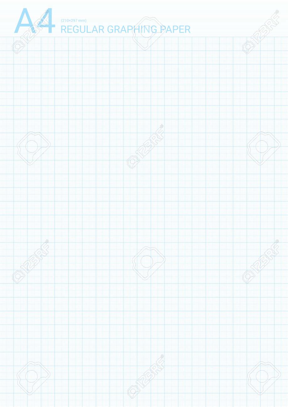 graph paper background with vector blue plotting millimeter ruler