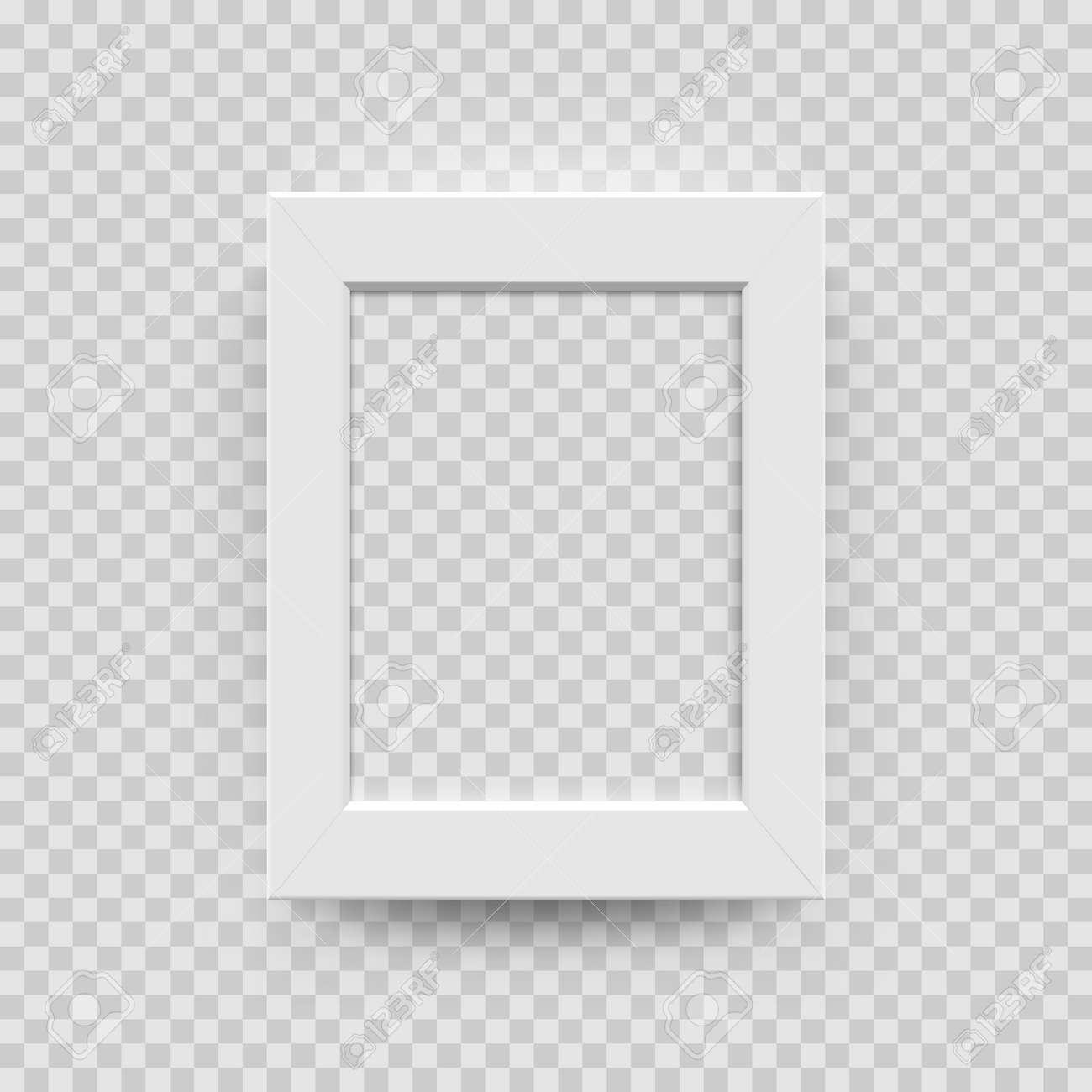 Papel Blanco Del Marco De La Foto, Plantilla Plástica O De Madera 3D ...