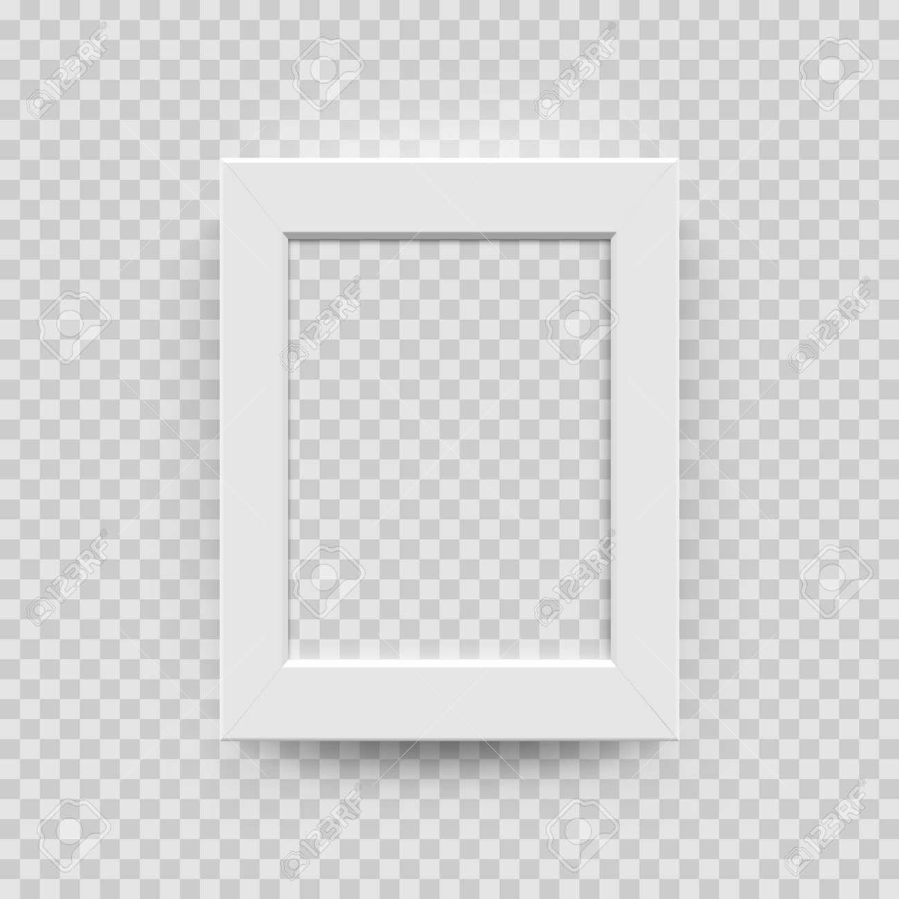 Photo Picture Frame White Paper, Plastic Or Wooden 3D Template ...