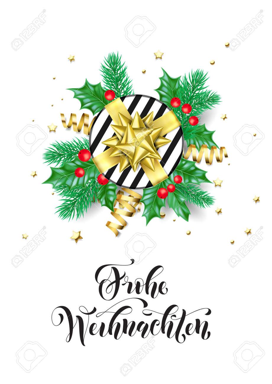 Merry Christmas German.Merry Christmas German Frohe Weihnachten Holiday Hand Drawn Quote