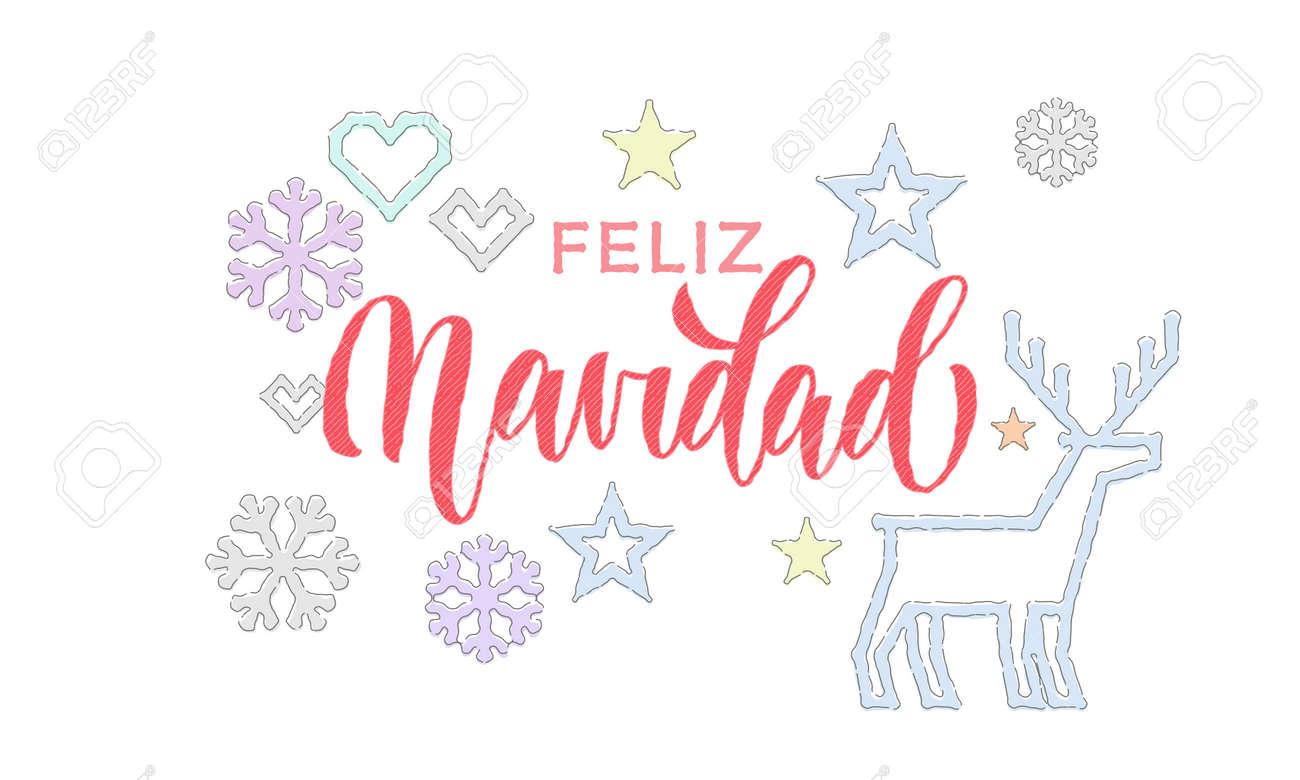 Feliz Navidad Spanish Merry Christmas Punto Decoración De Fuente De ...