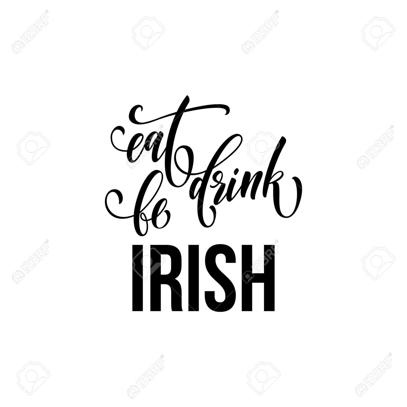 St Patrick Day Text For Irish Traditional Feast Holiday Vector