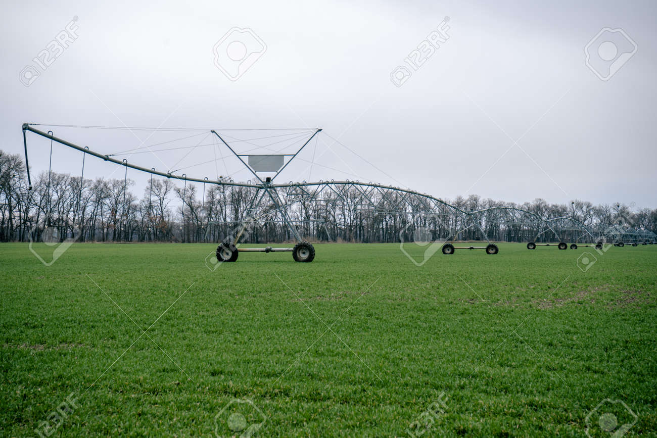 Irrigation system in an agricultural field - 167459699
