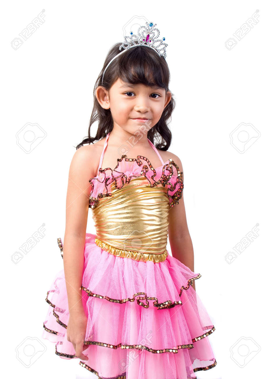 Cute little girl with princess costume Stock Photo - 2158521  sc 1 st  123RF.com & Cute Little Girl With Princess Costume Stock Photo Picture And ...