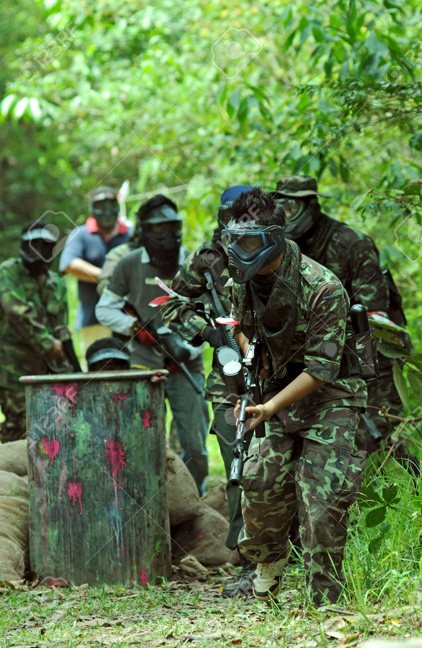 Jungle Paintball Stock Photo, Picture And Royalty Free Image ...