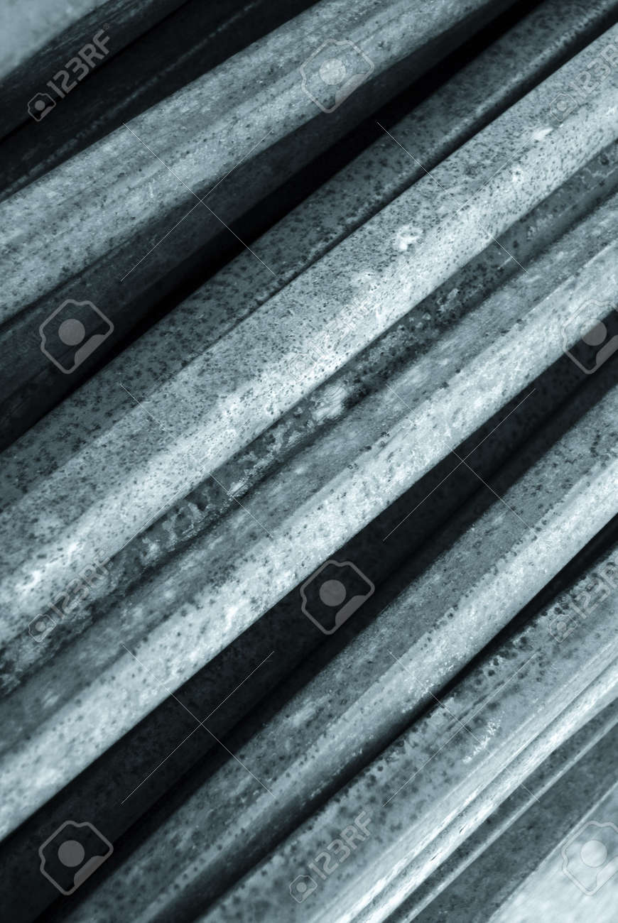 Close-up of metal sheets stacked against wall Stock Photo - 3986912