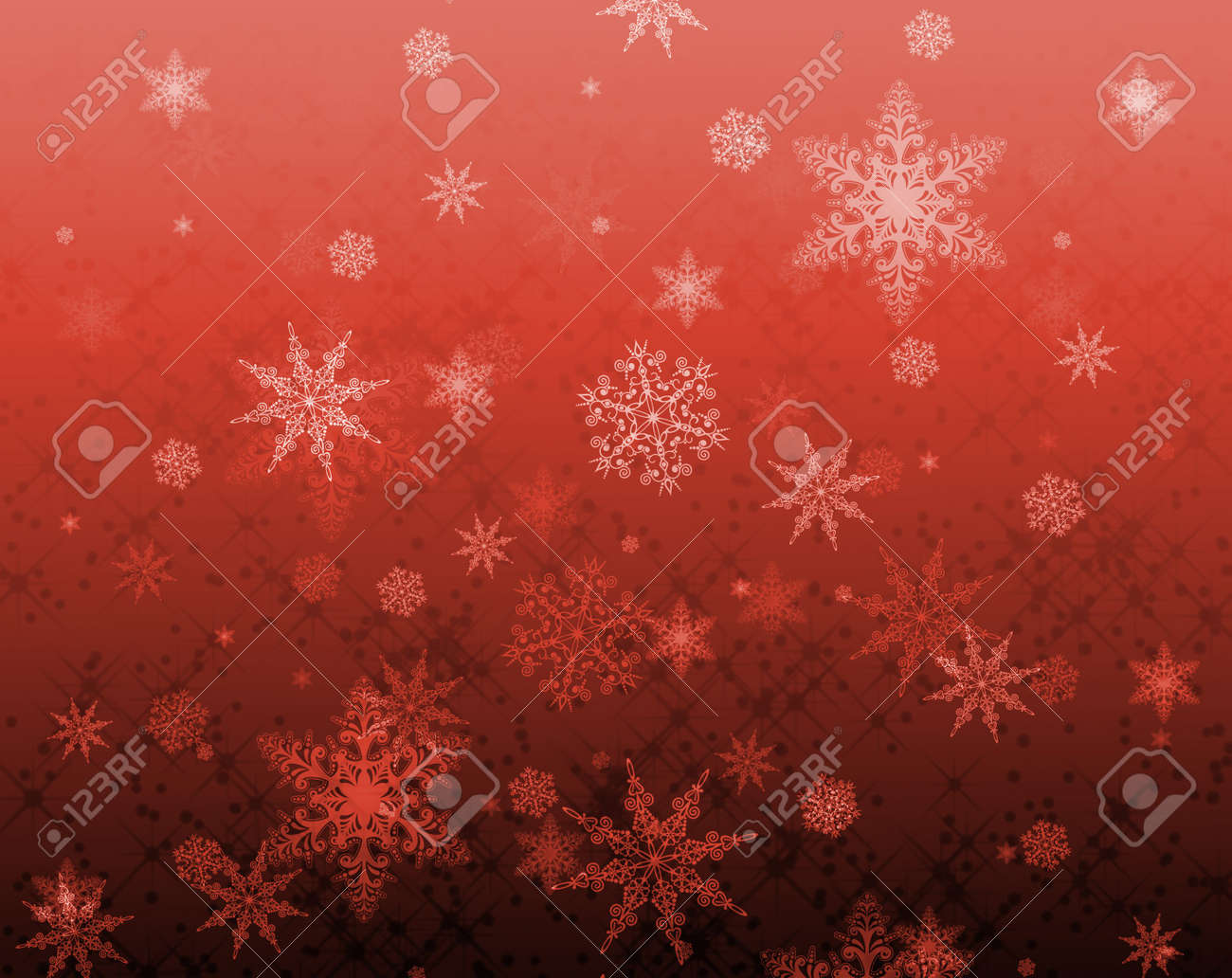 star and snowflake pattern for xmas backgrounds stock photo, picture