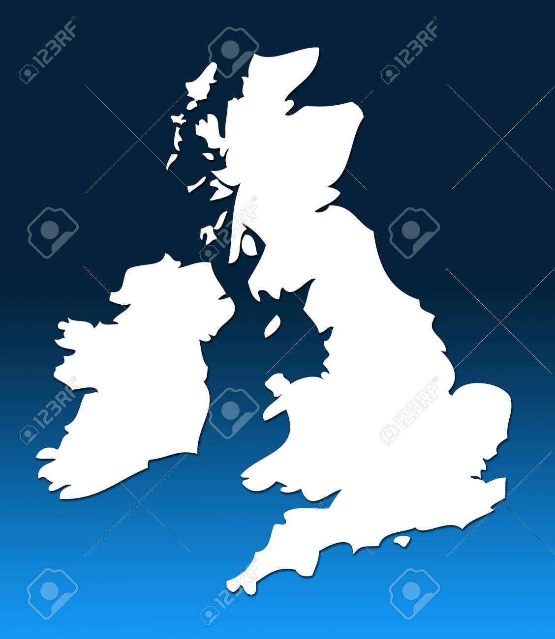 Regno Unito Cartina Muta.Immagini Stock Cartina Muta Del Regno Unito Bianco Su Blu E Laureato Sfondo Image 12057003