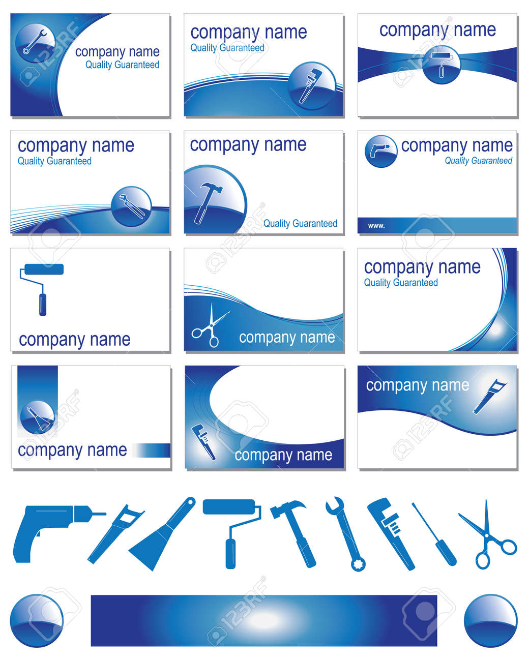 Twelve business card designs for different trades royalty free twelve business card designs for different trades stock vector 12204711 colourmoves