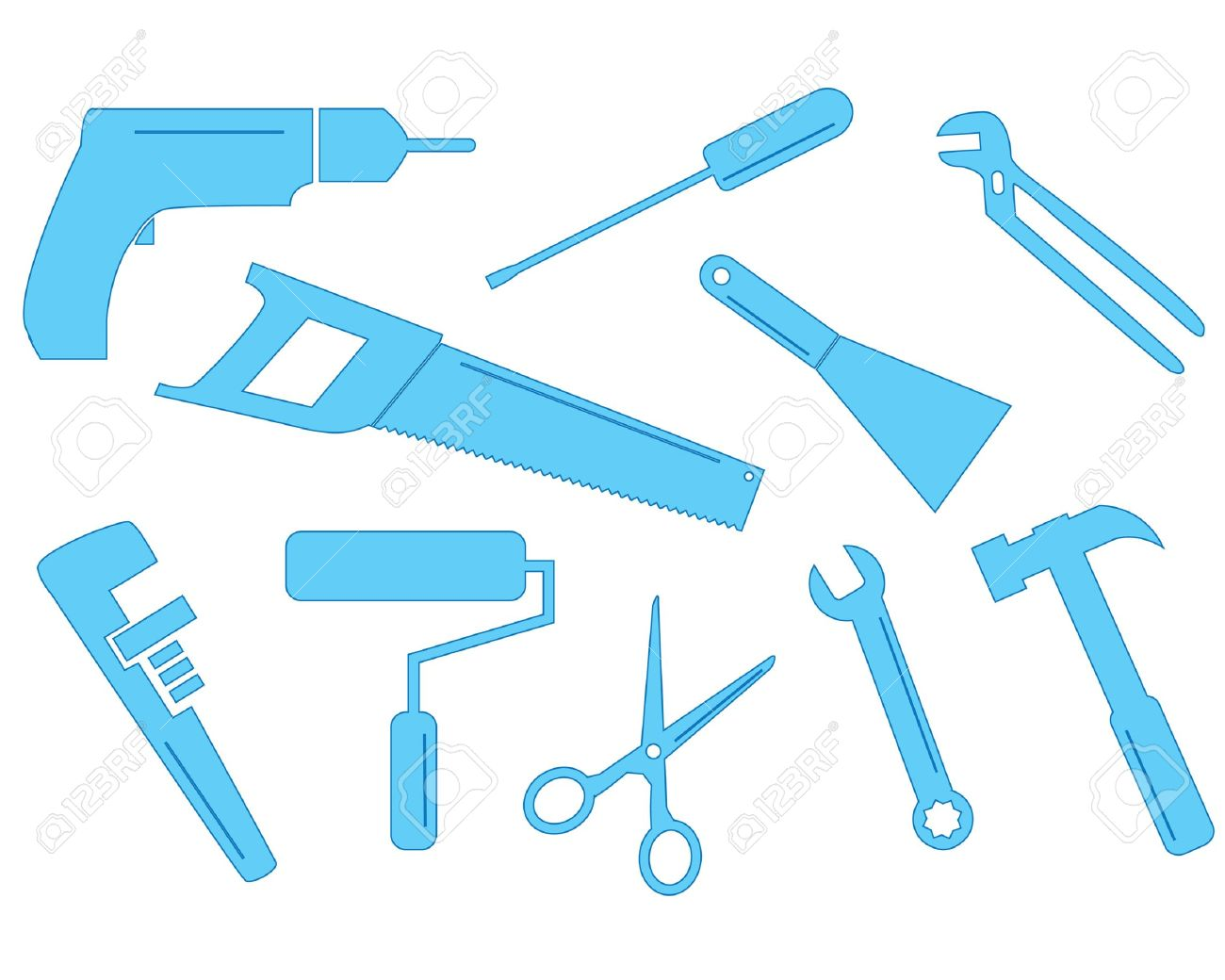 A Selection Of Tool Shapes For Different Trades These Simple ...