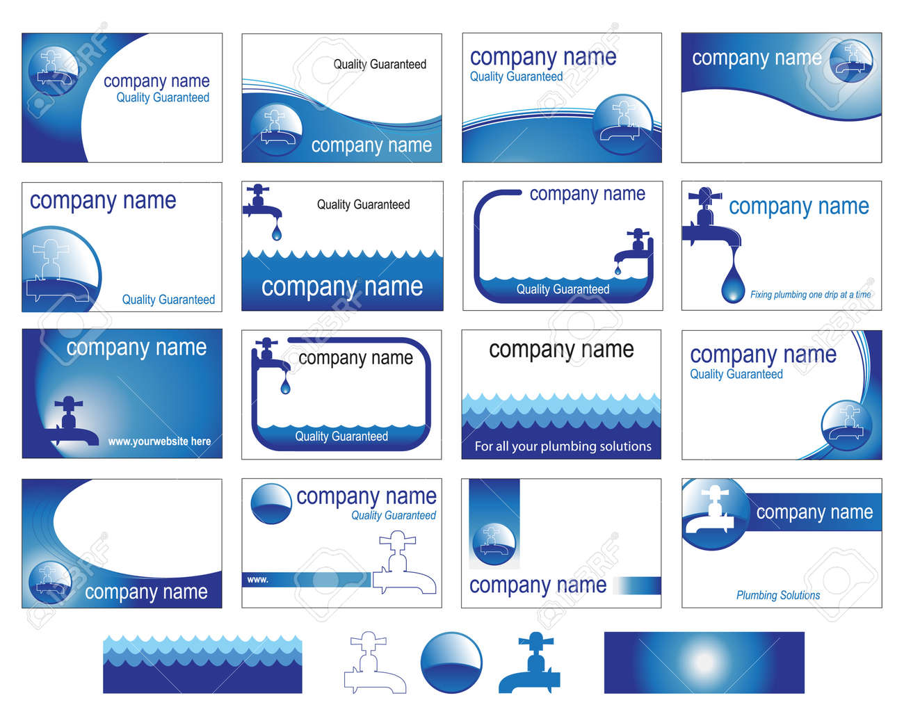 Sixteen Interesting Business Card Designs For The Plumbing Trade ...