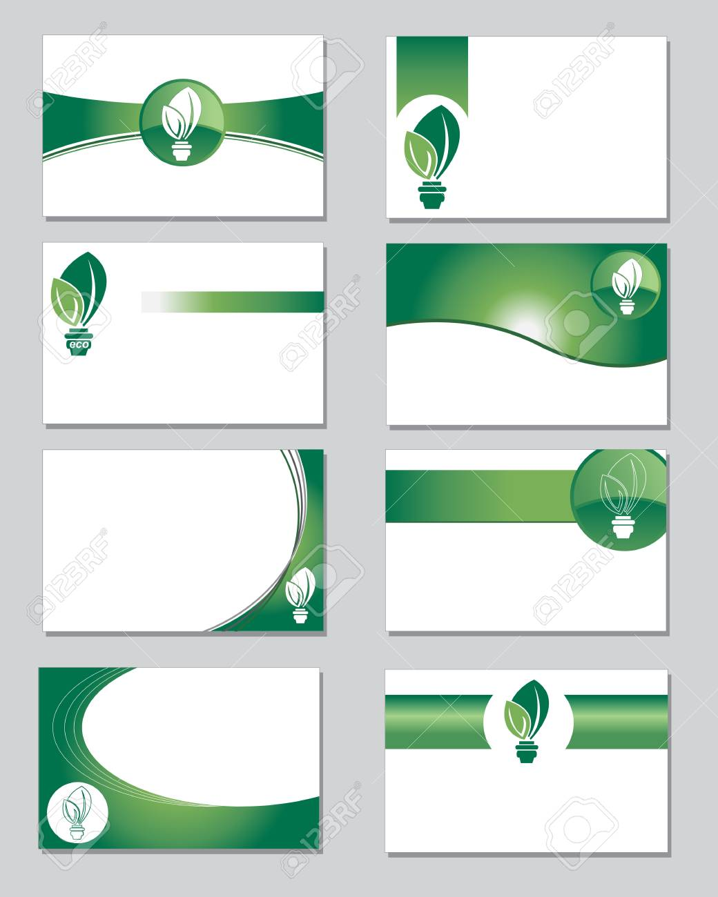 Selection of business cards on an environmental theme royalty free selection of business cards on an environmental theme stock vector 13318524 colourmoves Images