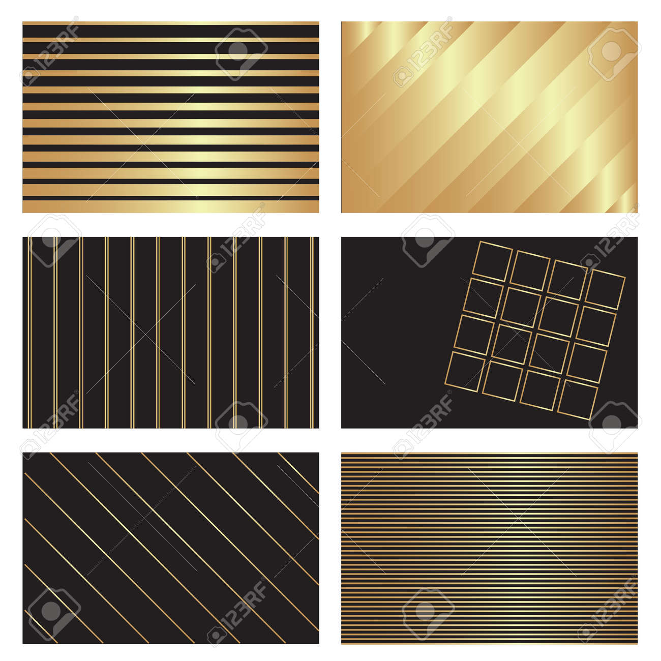 six gold on black business card backgrounds stock vector 18456437