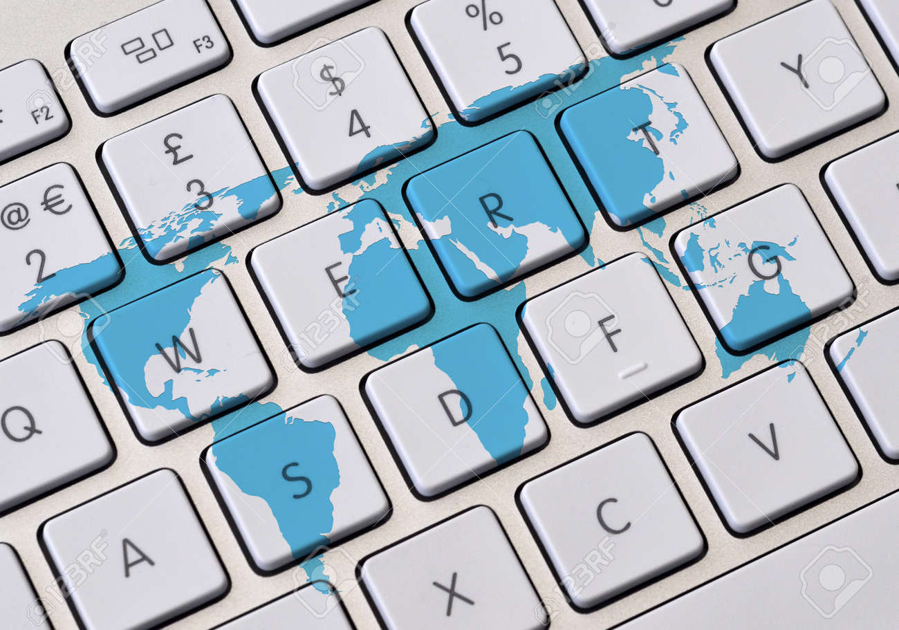 Computer keyboard overlaid with outline world map stock photo computer keyboard overlaid with outline world map stock photo 19287416 gumiabroncs Gallery