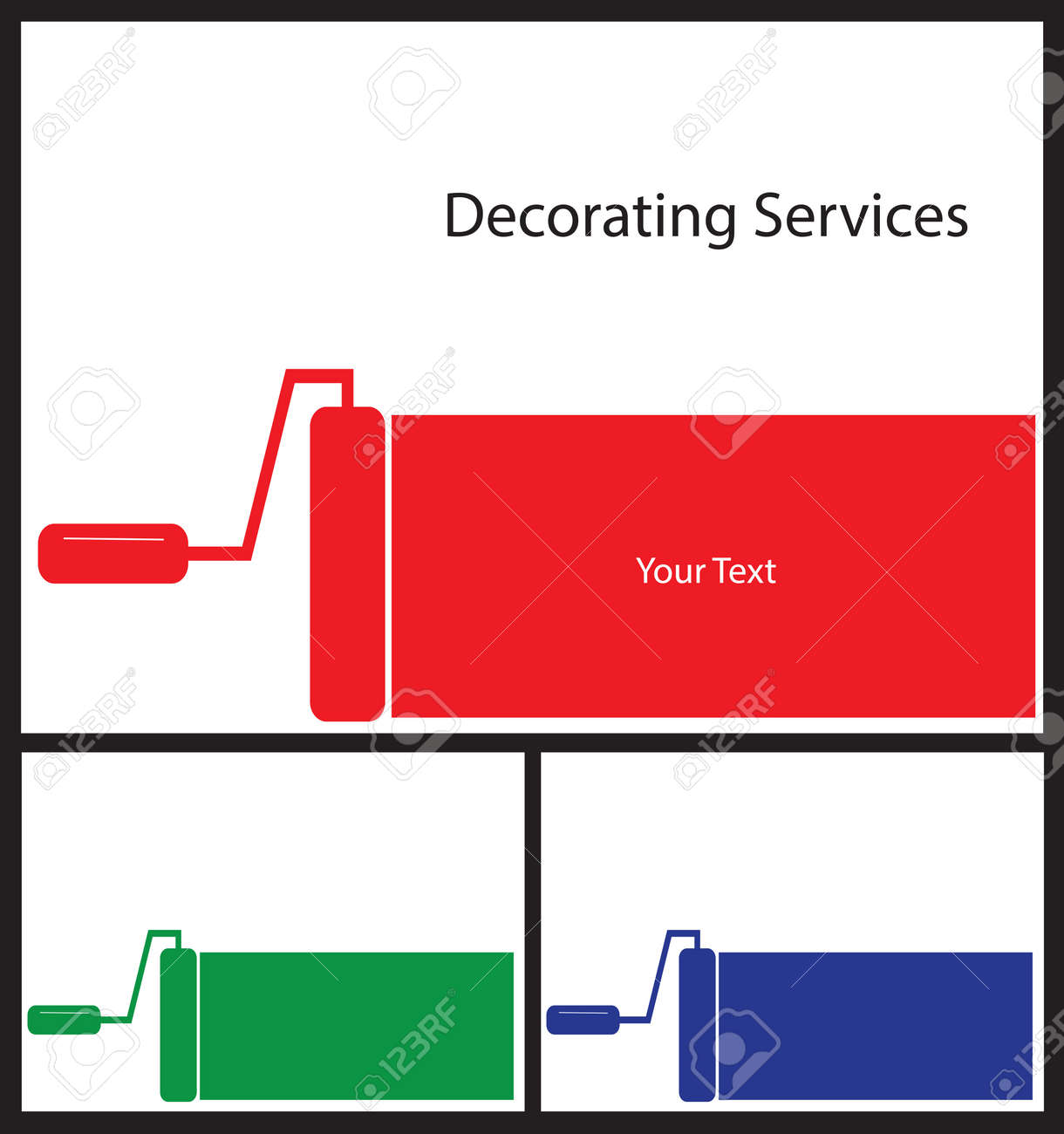 Business Card Template For Painters And Decorators Card Shape ...